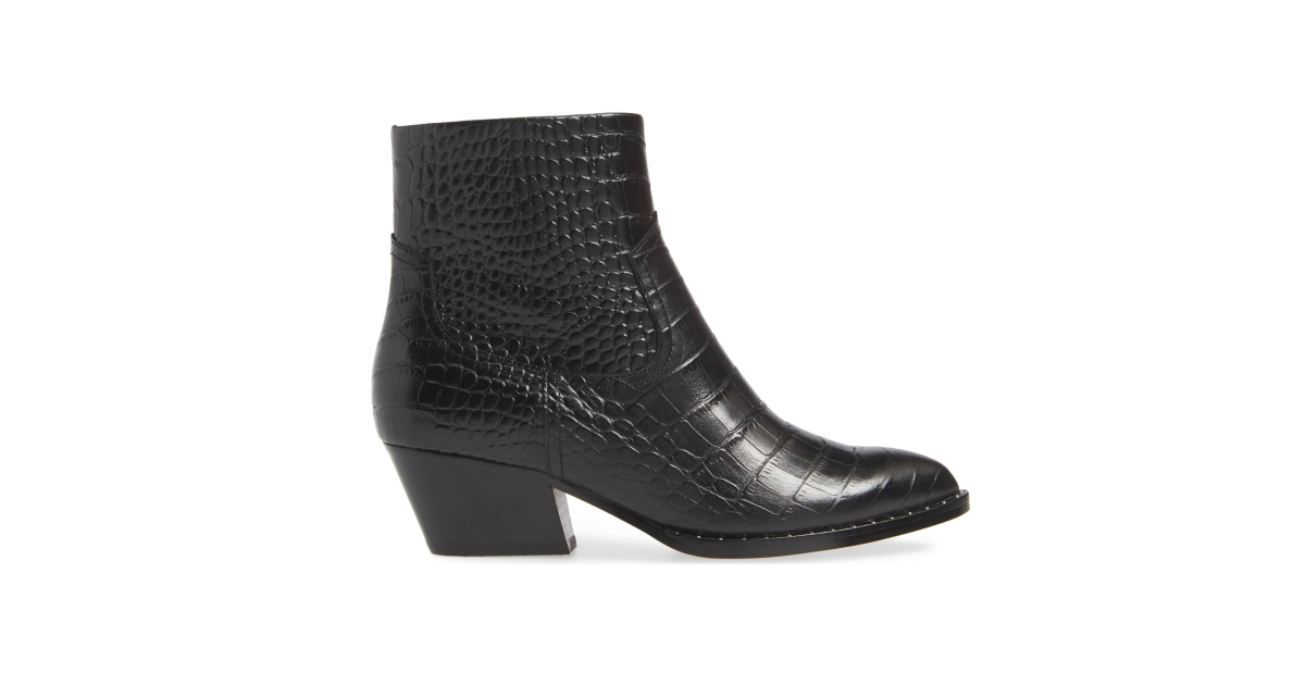 506c4c24a5cc These Booties Have Us Obsessing Over the Crocodile Trend