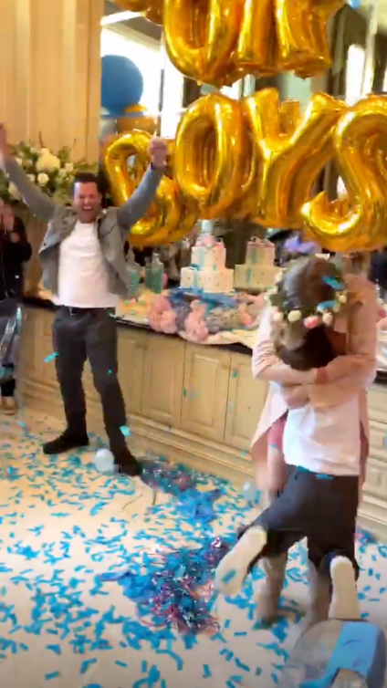 The Hills Alum Doug Reinhardt Is Expecting Identical Twin Boys With Girlfriend Mia Irons - An emotional Reinhardt threw his hands in the air as Irons' son ran in for a hug.
