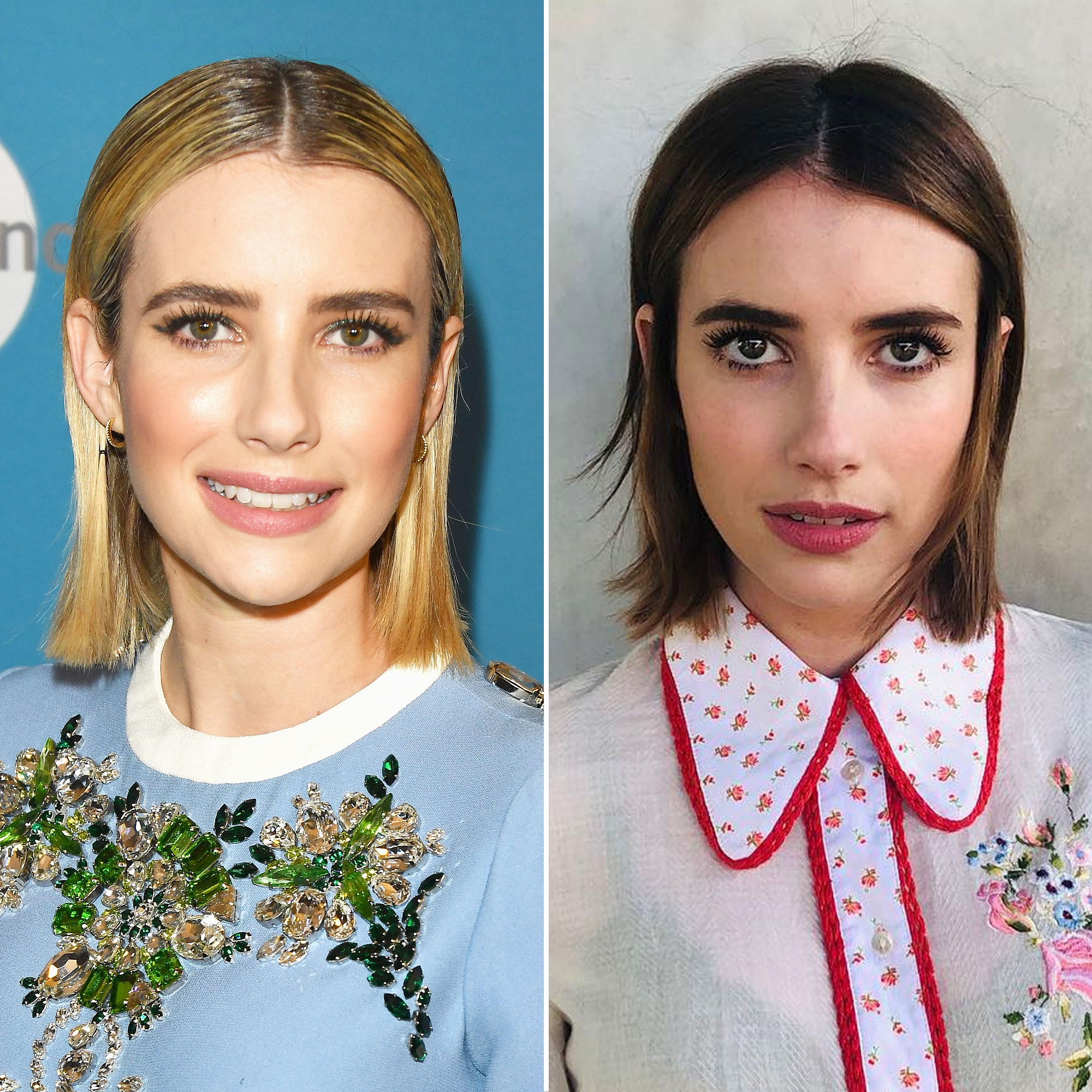 Emma Roberts Just Went Brunette Plus Other 2019 Celeb Hair Changes - Previously a dirty blonde, the American Horror Story actress debuted a classic brunette shade on February 19, courtesy of celebrity hairstylist Nikki Lee.