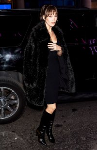 Bella Hadid 7 Black Midi Faux Fur Coats to Get Bella Hadid's Style