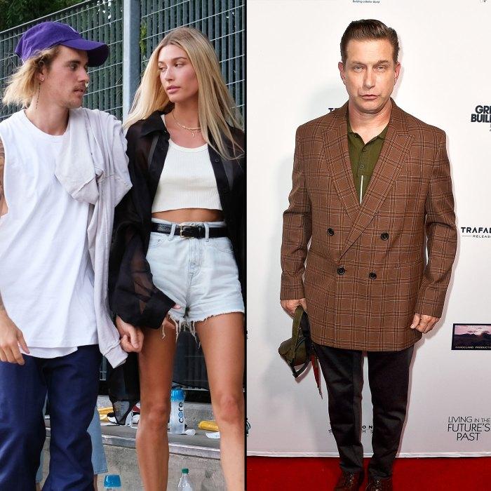 Justin Bieber, Hailey Bieber and Stephen Baldwin
