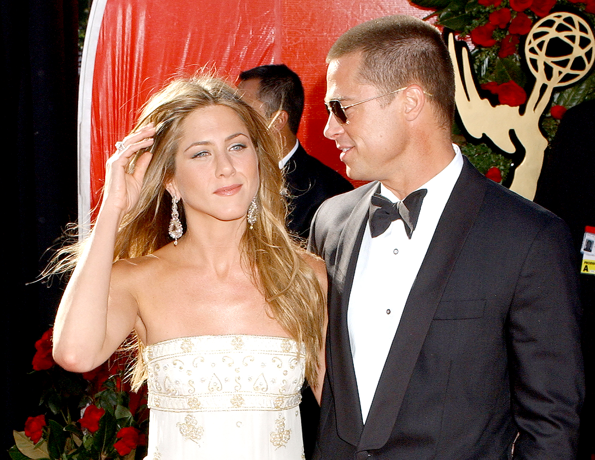 """jennifer-aniston-brad-pitt-divorce-relationship - Aniston told Diane Sawyer during a January 2004 interview that she felt Pitt was the one for her during their first date. """"It was weird,"""" she said reflecting on the date."""