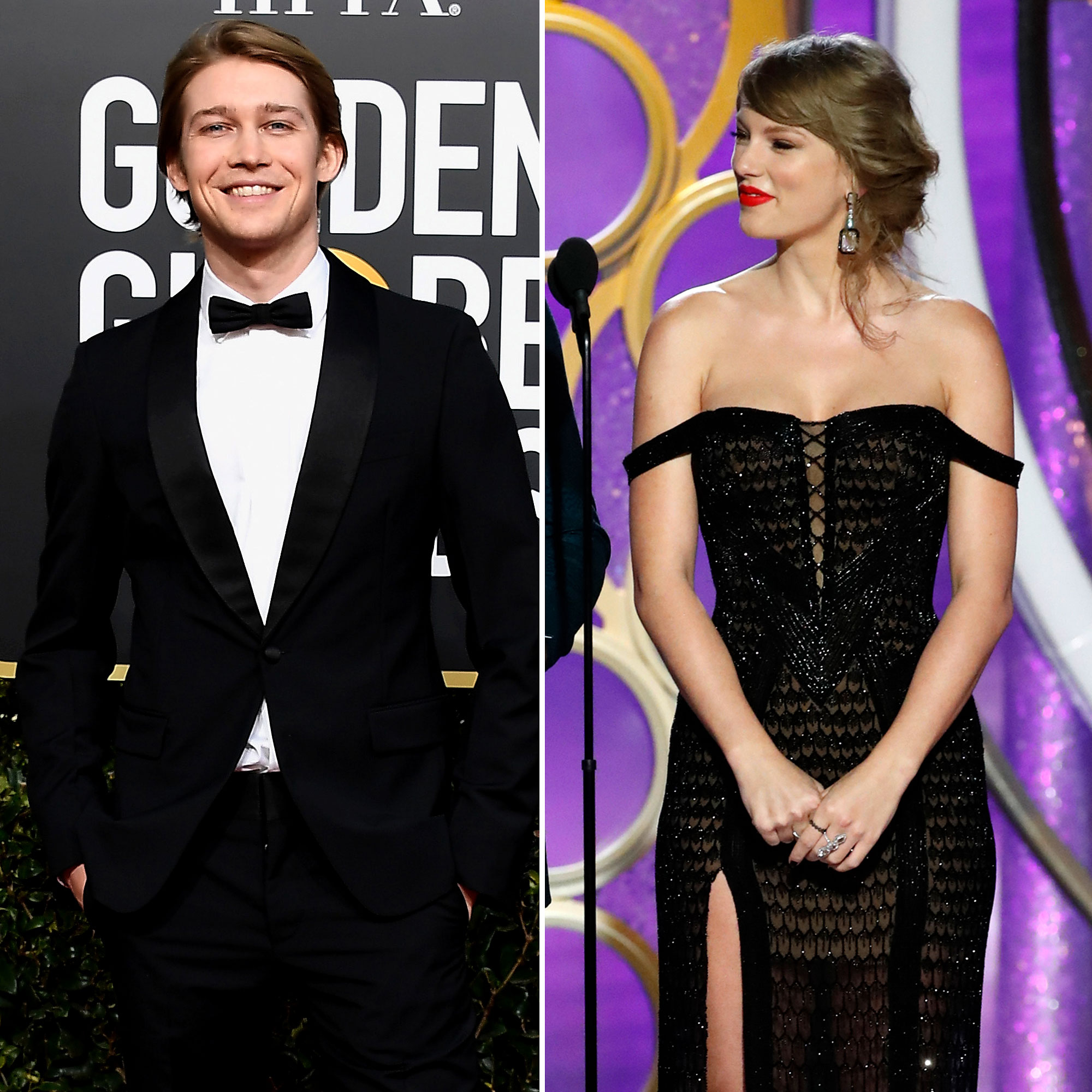 "Taylor Swift and Joe Alwyn: A Timeline of Their 'Gorgeous' Relationship - The Grammy winner and the actor got flirty with each other at the 2019 Golden Globes, where Swift was a presenter. ""She was smiling at him while she walked off the stage,"" a source told Us of the songstress."