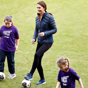 6a7ff124730ef Kate Middleton Shows Off Hair Braiding Skills in Northern Ireland  Catherine, Duchess of Cambridge plays football ...