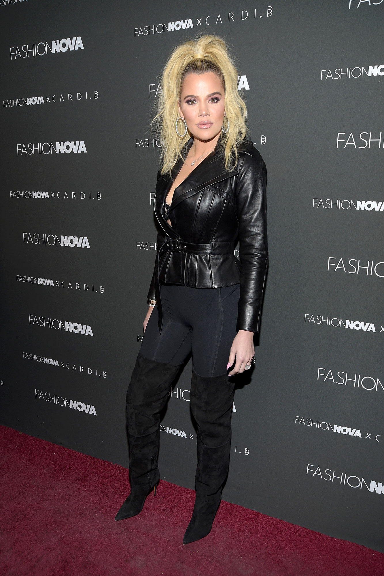 khloe kardashian posts cryptic message amid tristan thompson scandal - Khloe Kardashian attends the Fashion Nova x Cardi B collaboration launch event at Boulevard3 on November 14, 2018 in Hollywood, California