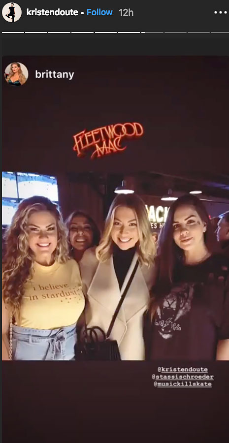 Vanderpump Rules' Stars Celebrate Kristen Doute's 36th Birthday in Nashville - The group posed for a picture before they headed into the Fleetwood Mac concert.