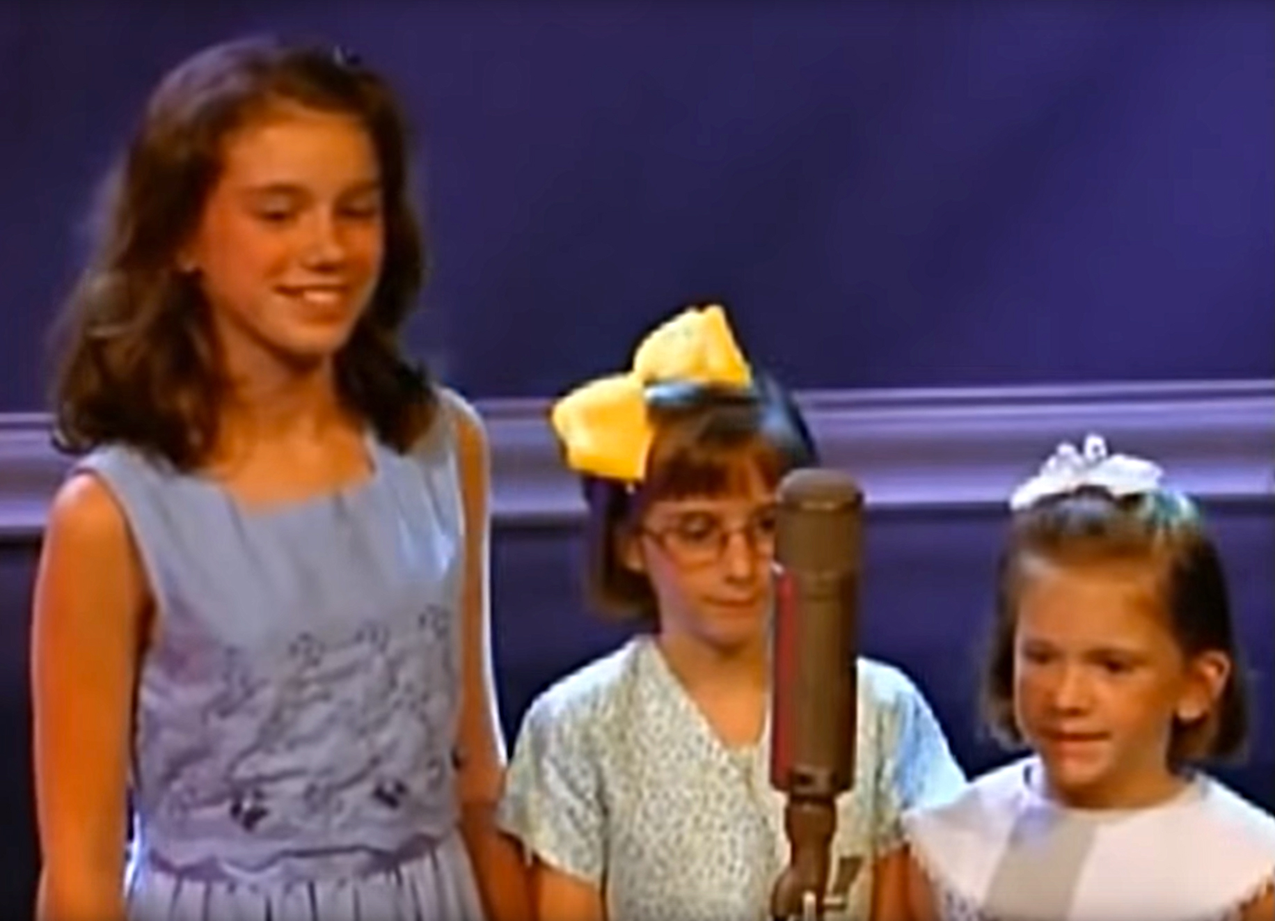 """leah-peasall-and-sister-youngest-grammy-award-winner - When the O Brother, Where Art Thou soundtrack won Album of the Year in 2002, Leah Peasall was just 8 years old as she and her sisters accepted trophies for their song """"In the Highways."""""""