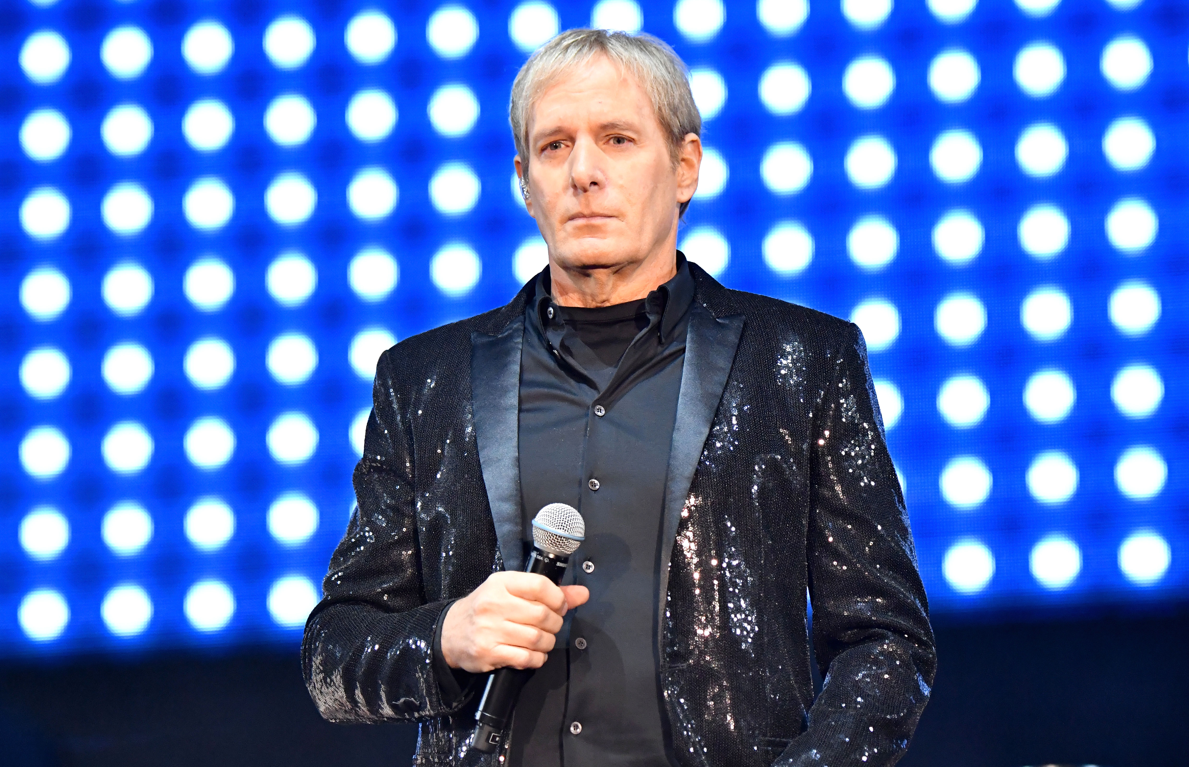 Michael Bolton: I Didn't Fall Asleep on TV! - Michael Bolton performs with The Lonely Island on the Colossal Stage during Clusterfest at Civic Center Plaza and The Bill Graham Civic Auditorium on June 1, 2018 in San Francisco, California.