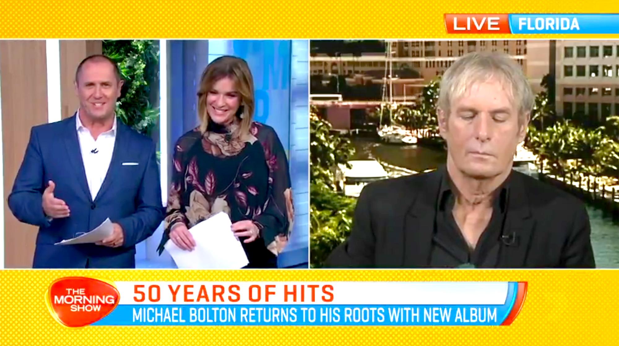 Michael Bolton: I Didn't Fall Asleep on TV!