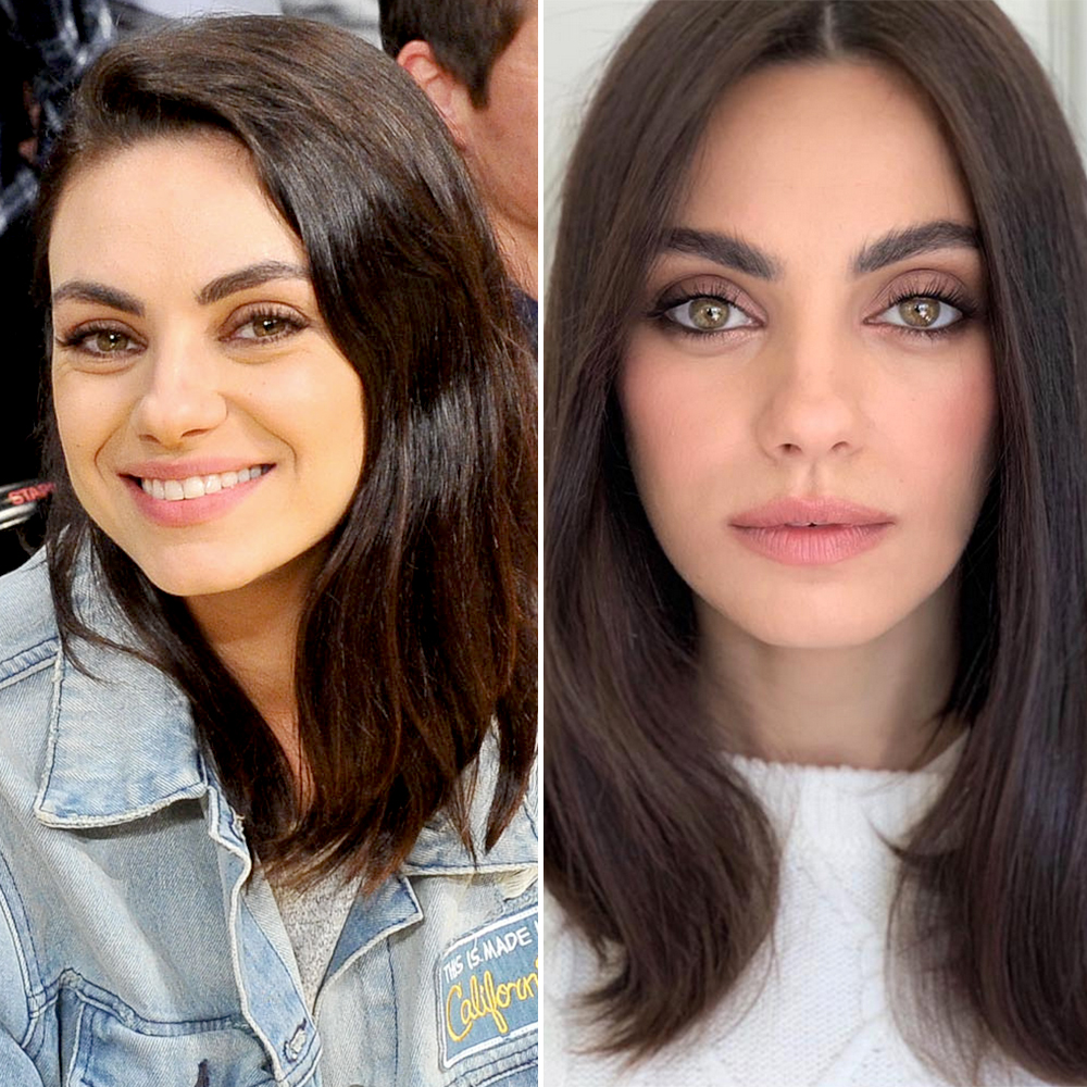 mila-kunis-hair-cut - Looking as beautiful as ever, the Bad Moms star debuted a fresh new lob on her hairstylist Renato Campora's Instagram on Tuesday, February 26.