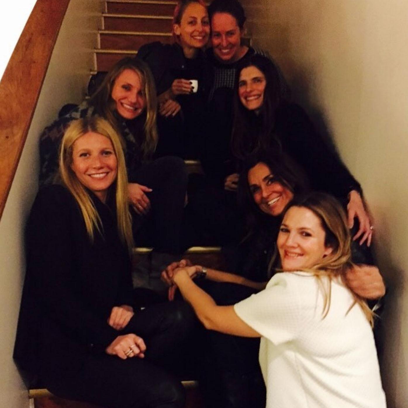 oscars 2019 Drew Barrymore Celebrates 44th Birthday With Gwyneth Paltrow and Cameron Diaz - Nicole Richie, Cameron Diaz, Gwyneth Paltrow, and Drew Barrymore