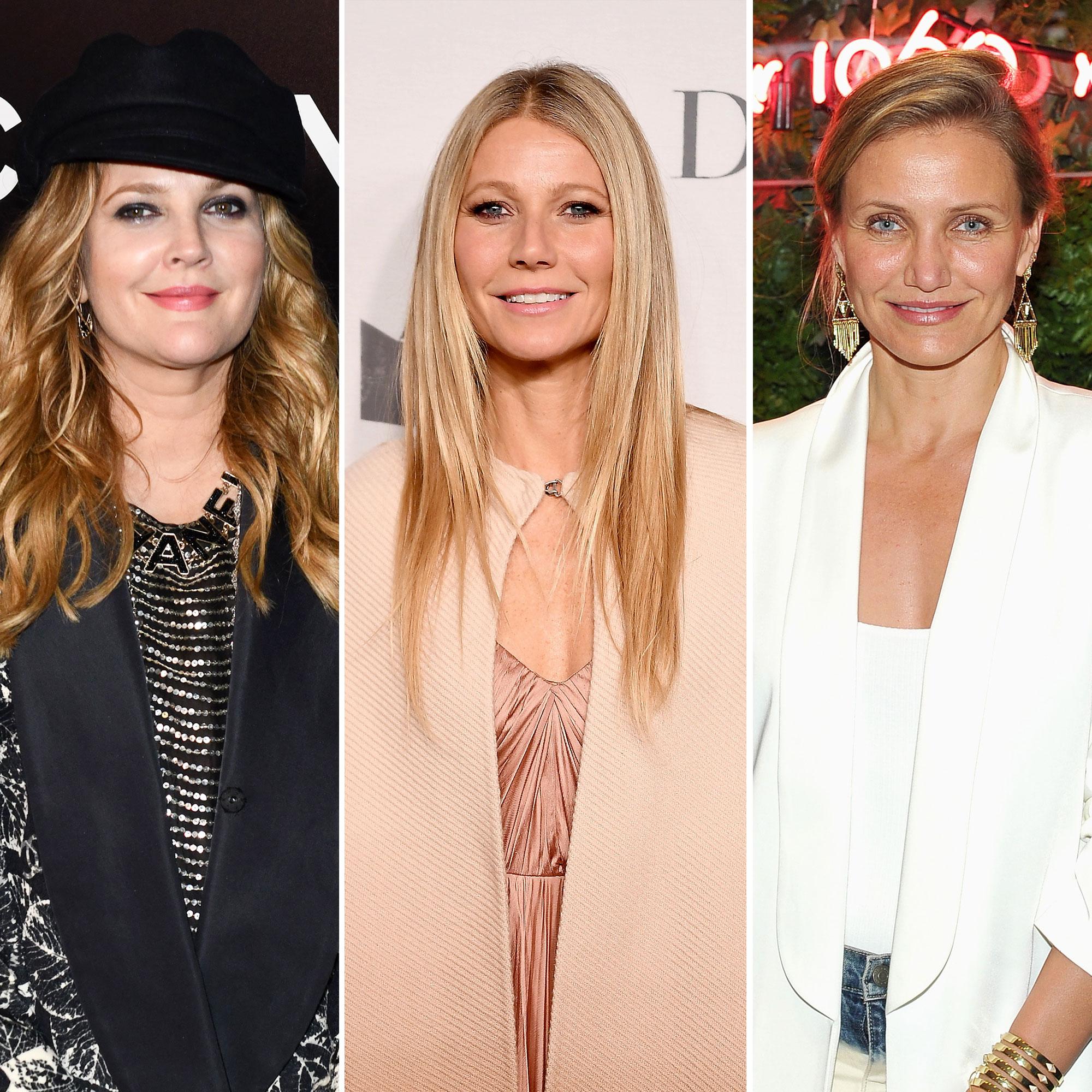 oscars 2019 Drew Barrymore Celebrates 44th Birthday With Gwyneth Paltrow and Cameron Diaz - Drew Barrymore, Gwyneth Paltrow, and Cameron Diaz