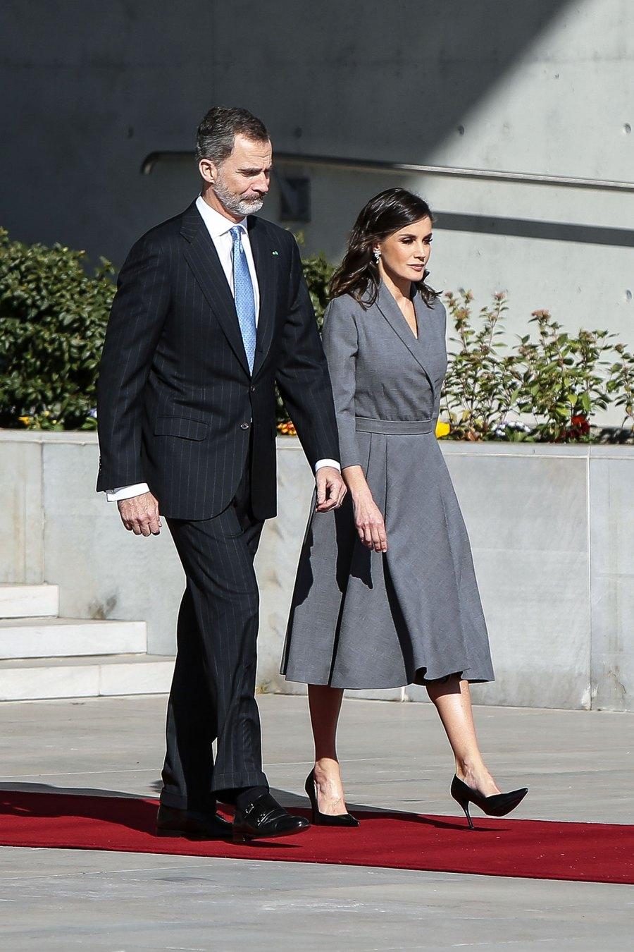 Queen Letizia of Spain (R) and King Felipe VI
