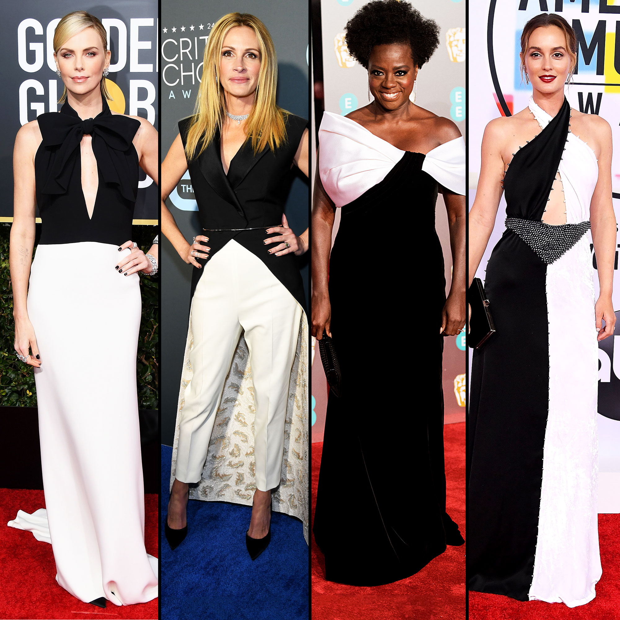 Charlize Theron, Julia Roberts, Viola Davis and Leighton Meester red carpet gallery for Stylish - black and white - Charlize Theron, Julia Roberts, Viola Davis and Leighton Meester