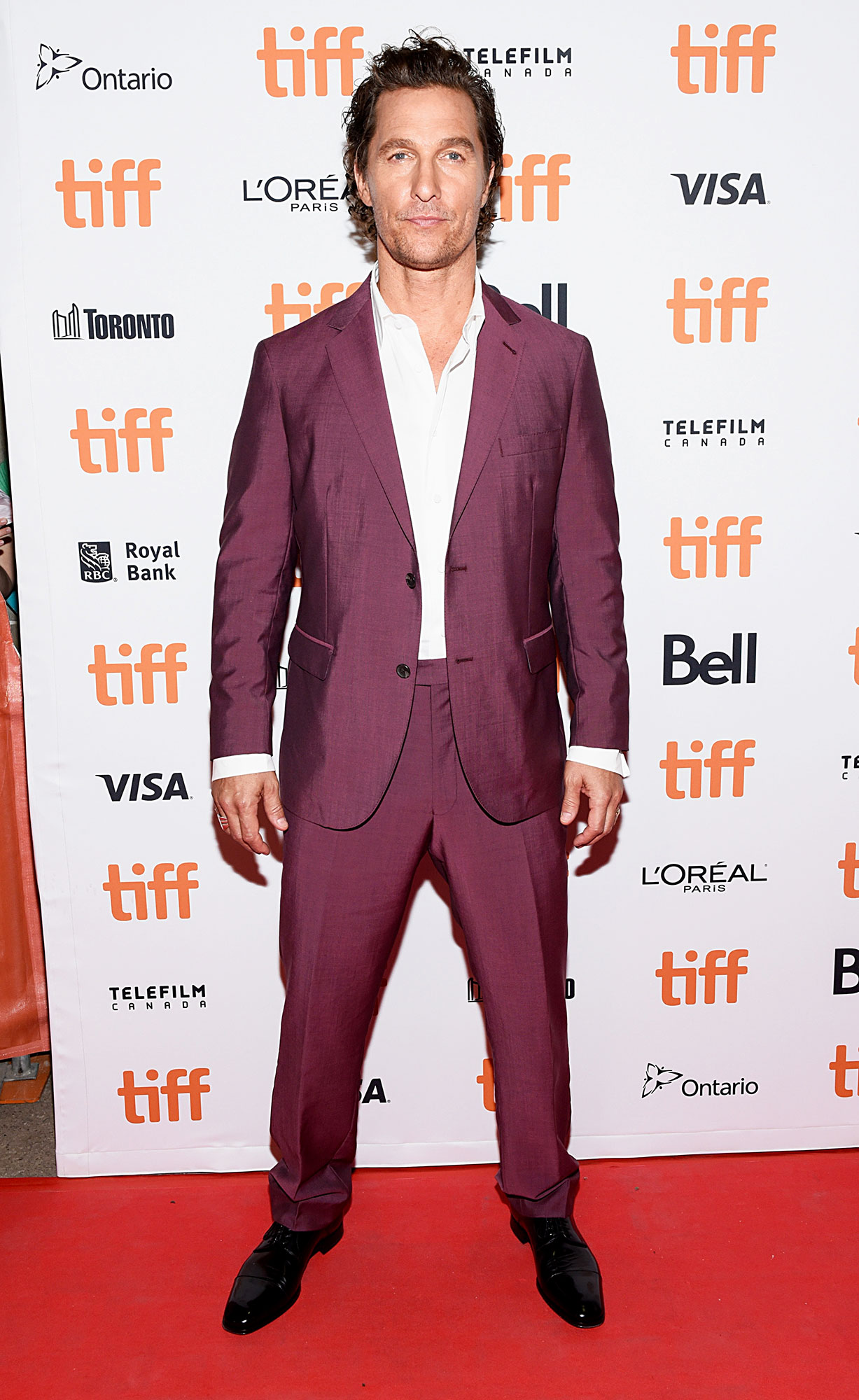 Matthew McConaughey - In a $795 wool mohair Strong Suit on Sept. 7.