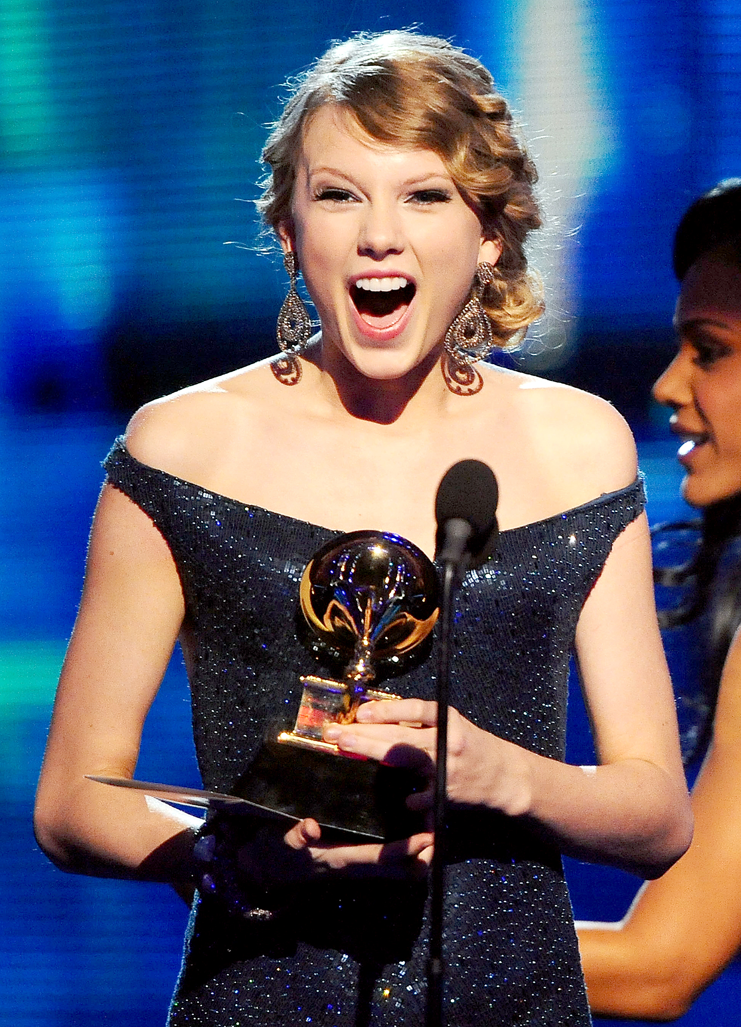 taylor-swift-grammy-awards - Taylor Swift was 20 when her album Fearless won the Album of the Year honor in 2010.