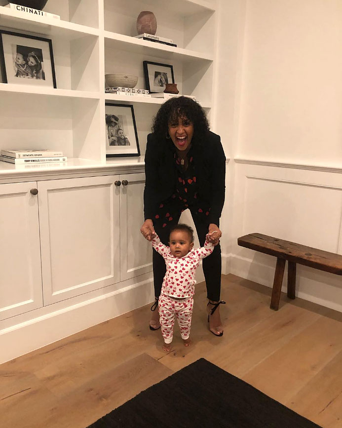 """Cute Celebrity Kids Celebrating Valentine's Day - """"#valentinesday shenanigans,"""" Tia Mowry captioned this mother-daughter pic."""