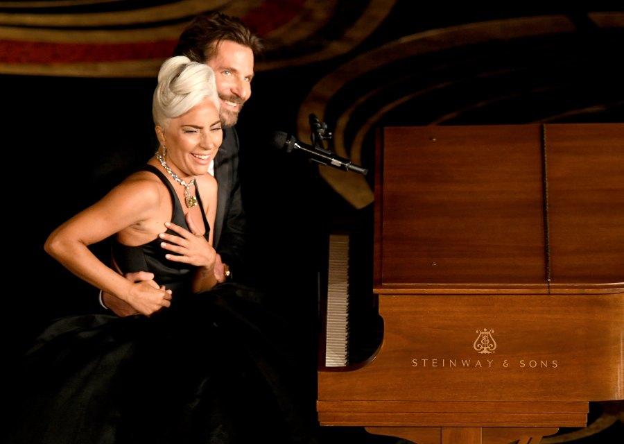 Most Unforgettable Oscars Moments lady gaga bradley cooper