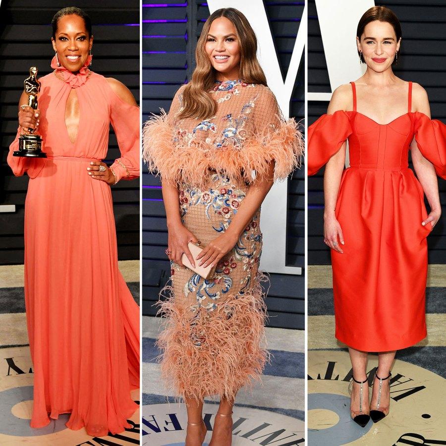 Regina King, Chrissy Teigen and Emilia Clarke vanity fair oscars party 2019