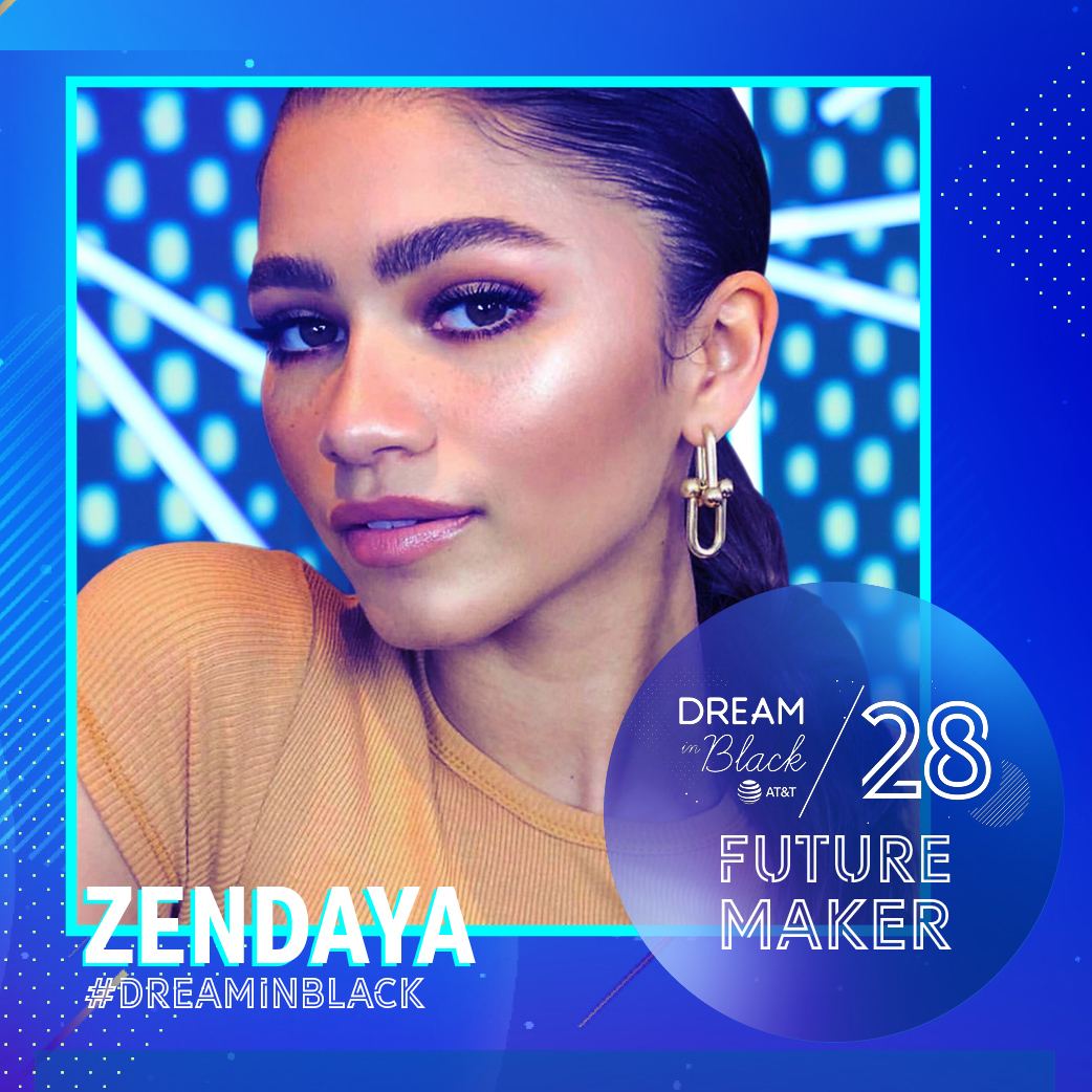 zendaya-dream-in-black - Zendaya and other stars share inspiring secrets in this Black History Month video campaign, which features new celeb messages every week in February. ( dreaminblack.att.com )