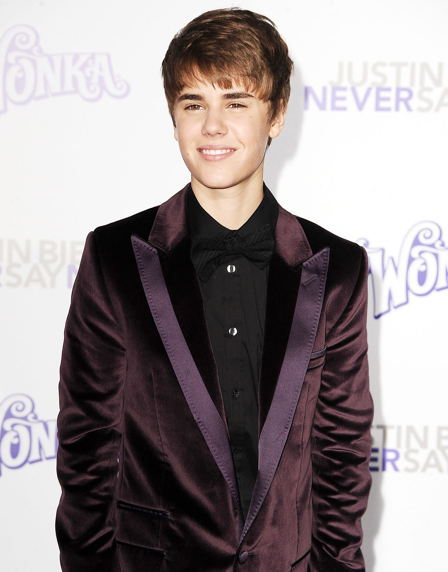 Justin Bieber Through The Years Never Say Never Movie - The pop sensation's 3-D movie, Justin Bieber: Never Say Never , documented the road to his sold-out August 2010 concert at New York City's famed Madison Square Garden. During opening weekend, the film grossed nearly $30 million.