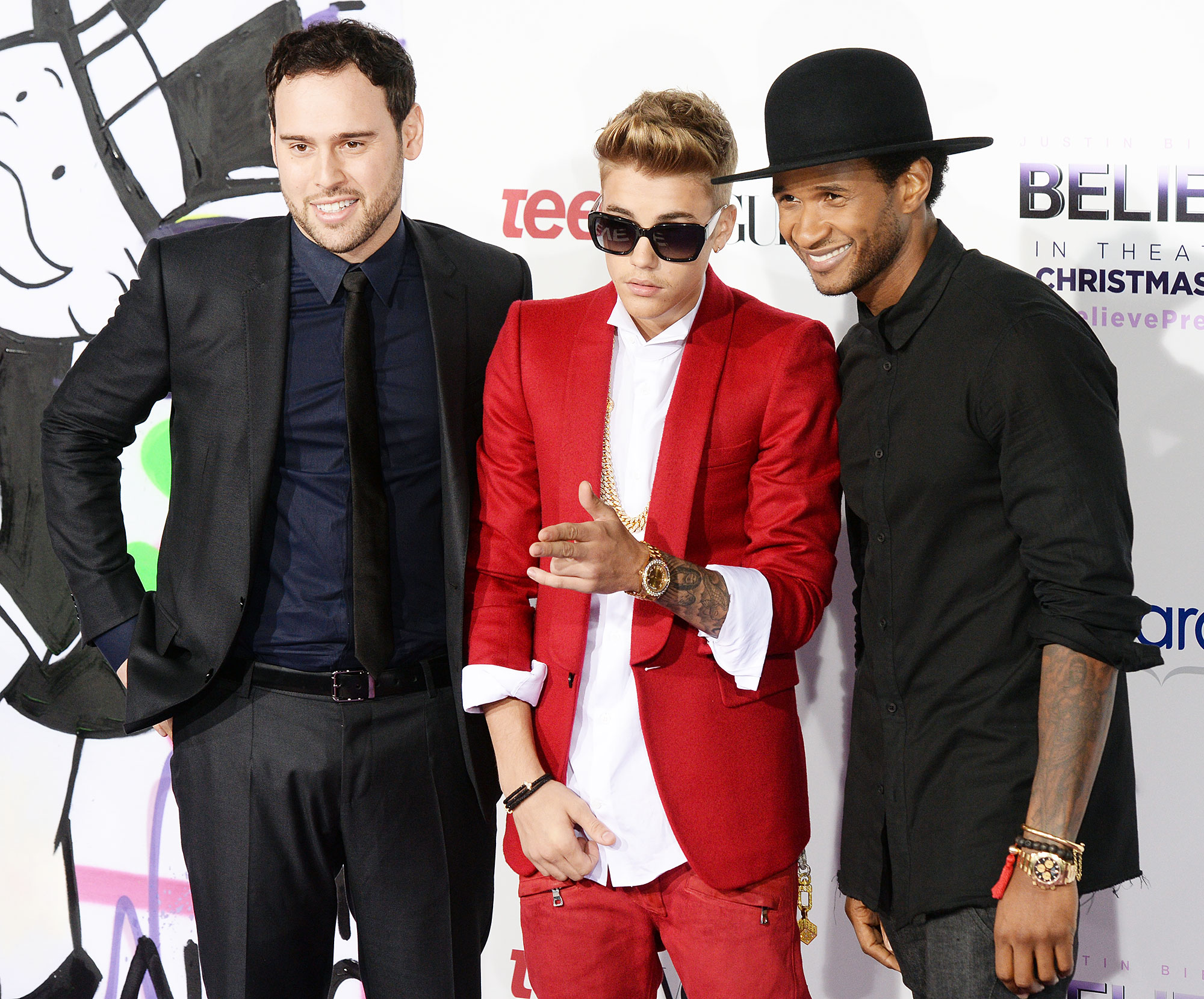 Justin Bieber Through The Years Believe Movie Scooter Braun Usher - Justin Bieber's Believe , which was not a box office hit like Never Say Never , chronicled his Believe tour with the addition of never-before-seen backstage footage.