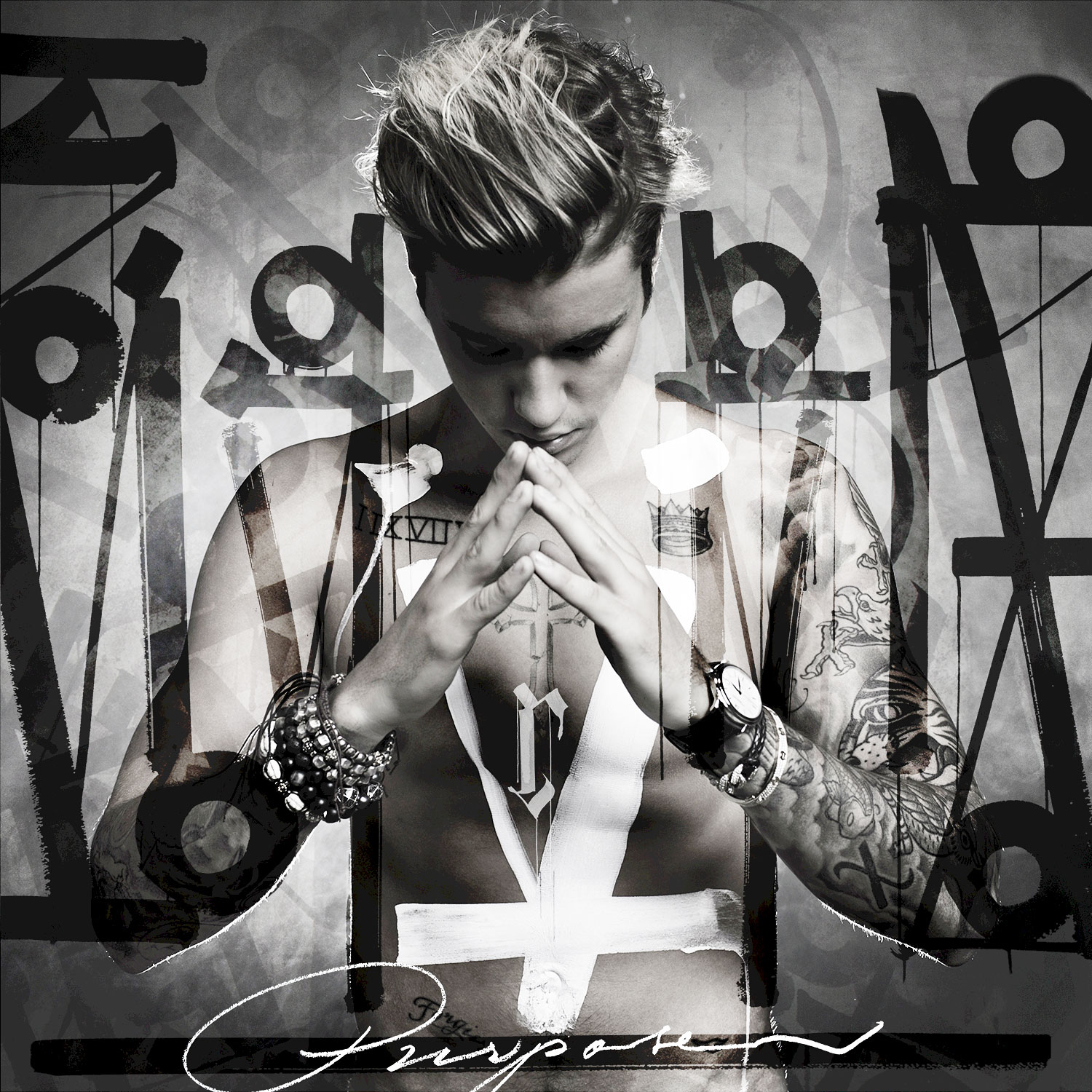 """Justin Bieber Through The Years Purpose - The pop star's fourth album, Purpose , debuted at No. 1 on the Billboard 200 and included some of his most successful singles to date, including """"What Do You Mean?,"""" """"Sorry"""" and """"Love Yourself."""" It was nominated for four Grammys, including Album of the Year and Song of the Year for """"Love Yourself."""""""