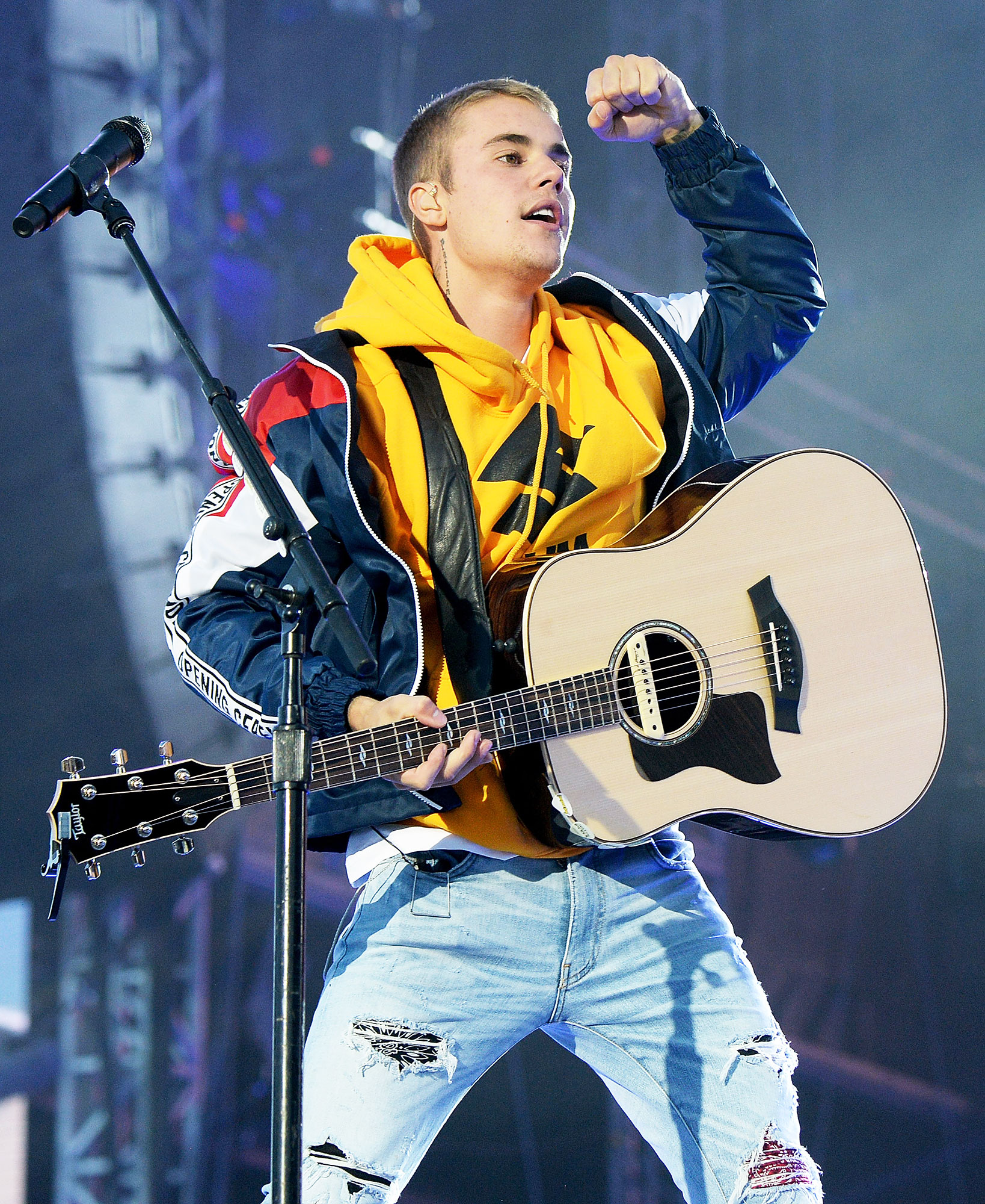"""Justin Bieber Through The Years Despacito Success - The singer-songwriter hopped on a remix of Luis Fonsi and Daddy Yankee 's song """"Despacito"""" and helped it become a global smash. The remix became the first Spanish-language song to hit No. 1 on the Billboard Hot 100 since """"Macarena"""" in 1996."""