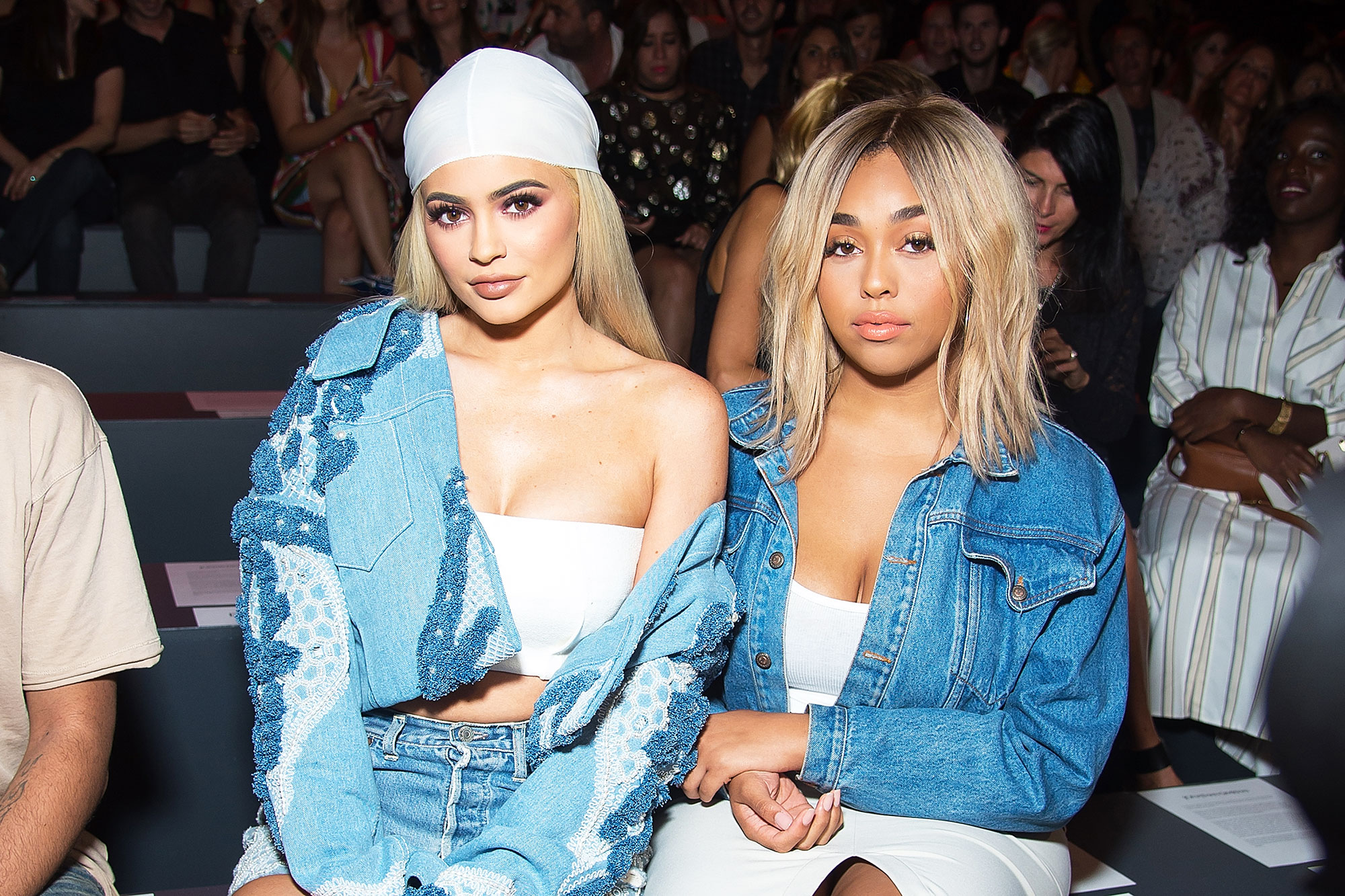6 Times Jordyn Woods Channeled Kylie Jenner's Hair - TV personality Kylie Jenner (L) and Jordyn Woods attend the Jonathan Simkhai fashion show during September 2016 MADE Fashion Week: The Shows at The Arc, Skylight at Moynihan Station on September 10, 2016 in New York City.