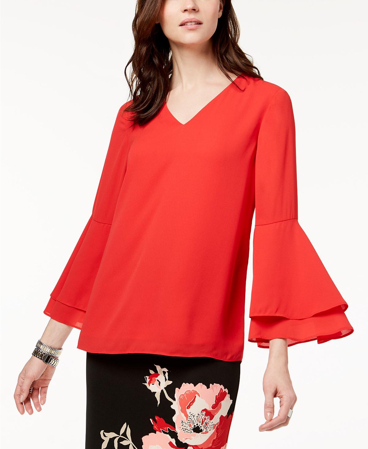 Alfani Blouse Red
