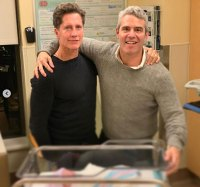Andy Cohen Introduces Baby Benjamin To Bruce Bozzi