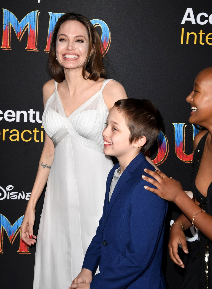 Angelina Jolie Has a Glam Night Out — With Kids Shiloh, Zahara, Knox and Vivienne