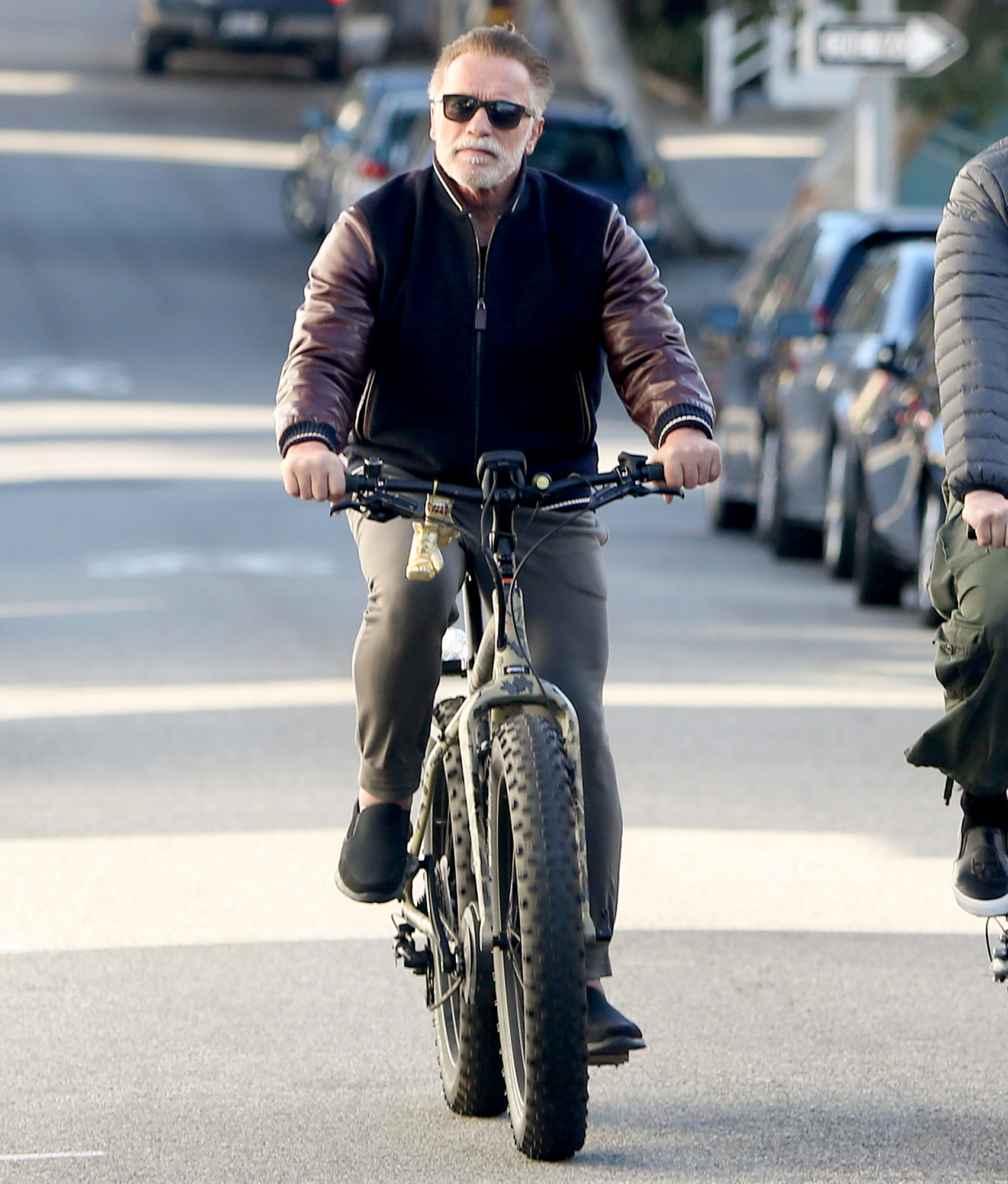 Arnold-Schwarzenegger-biking - The former bodybuilder turned actor turned governor went for a spin on a two-wheel in L.A. on January 24, 2019.