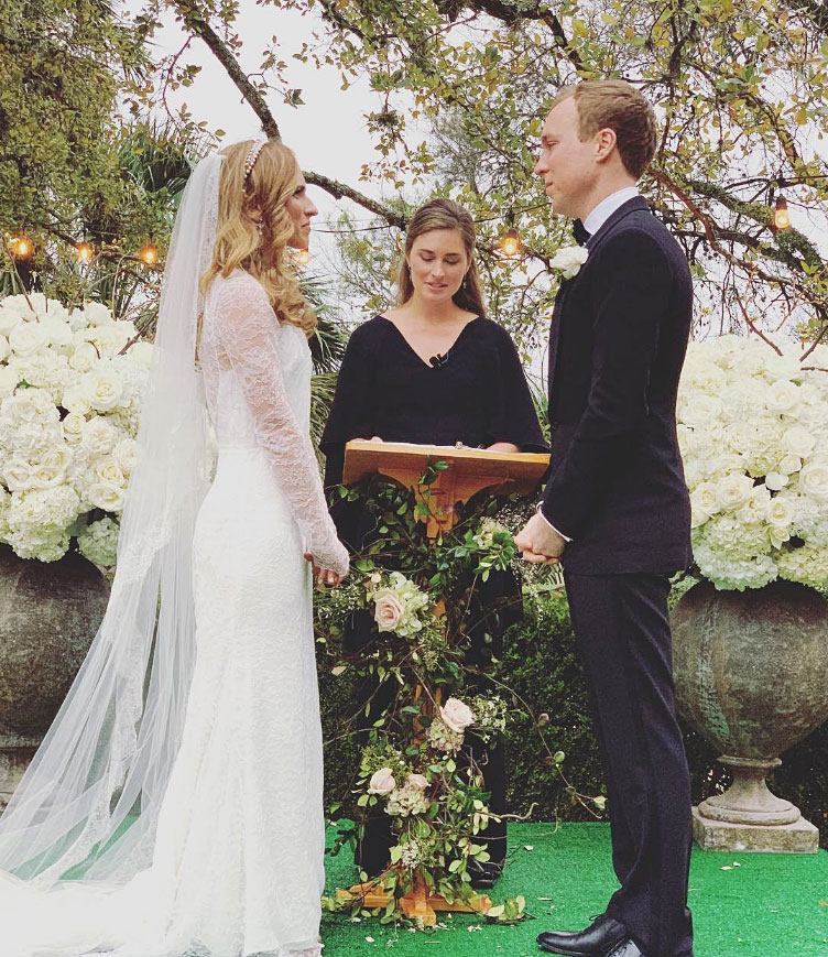Ashley Bush and Julian LeFevre - George H.W. Bush and Barbara Bush's granddaughter married on March 2 at The Contemporary Austin Laguna Gloria in Texas. Ashley's older sister, Lauren Bush Lauren, officiated the ceremony.