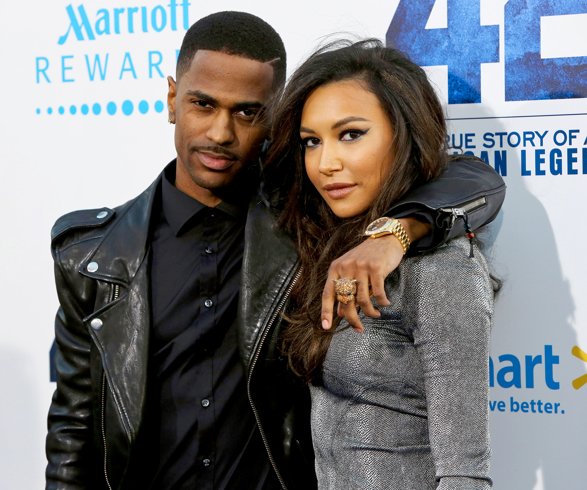 Big-Sean-Naya-Rivera - The Glee alum and her ex-fiancé met on Twitter in March 2013, the rapper admitted at the 2013 Teen Choice Awards. The duo called off their engagement in April 2014, which was a surprise to Rivera .