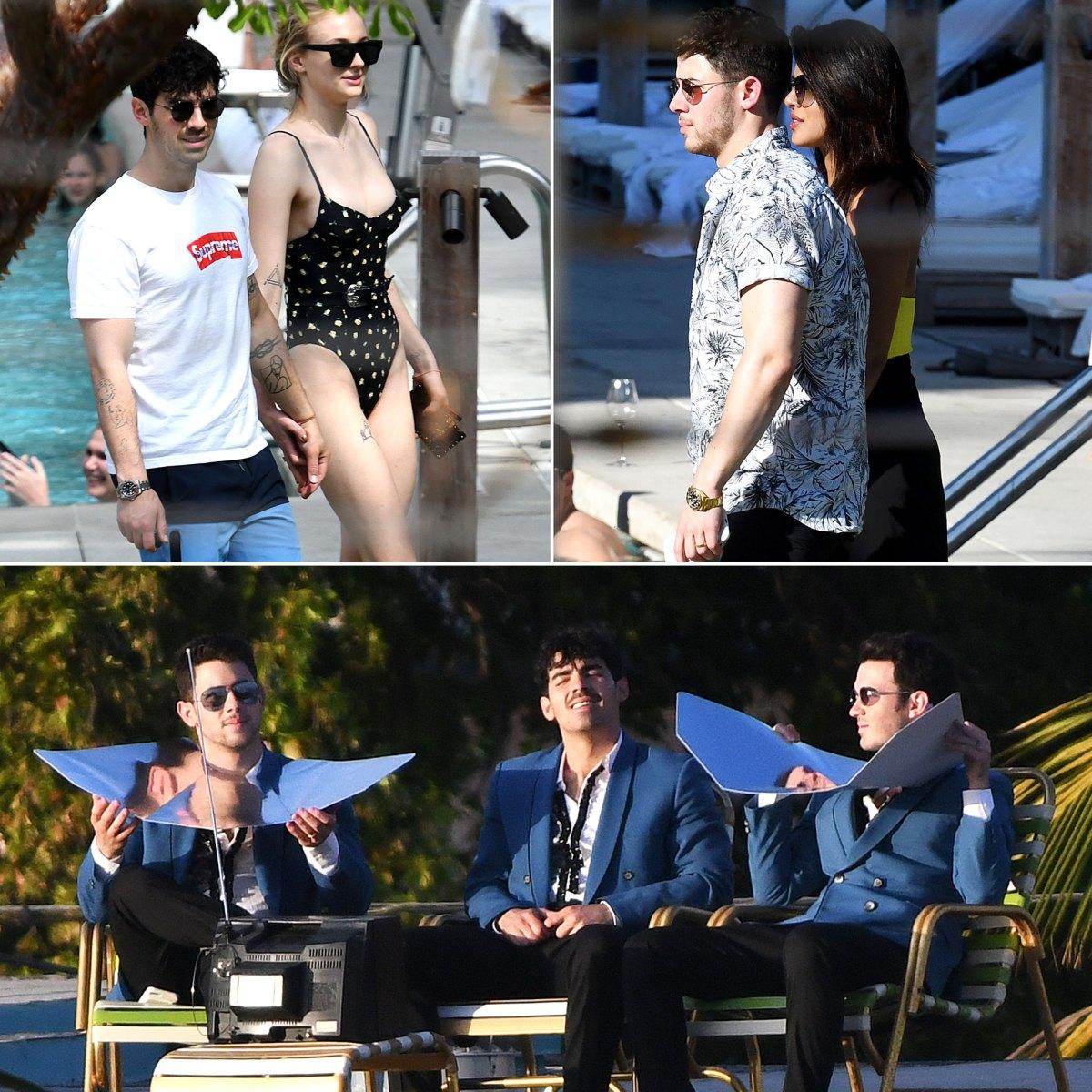 The Jonas Brothers Vacay in Miami — With Priyanka Chopra and Sophie Turner: Pics!