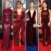 Nicole Kidman Halle Berry Emmy Rossum Gina Rodriguez Stylish Burgundy