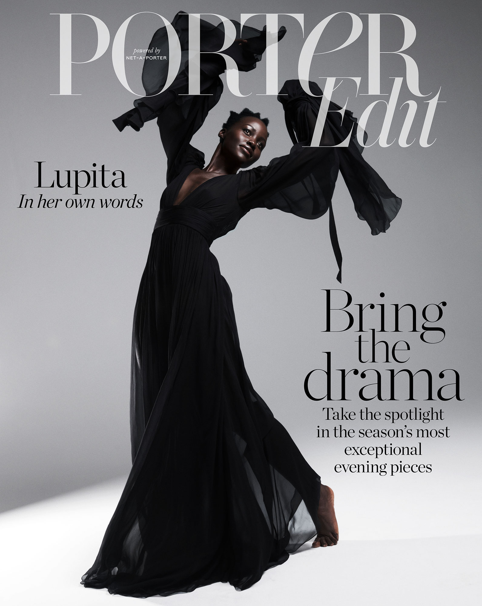 Lupita Nyong'o: There 'Was an Intimacy' With Jared Leto - Lupita Nyong'o wears a dress by Saint Laurent on the cover of Porter Edit.
