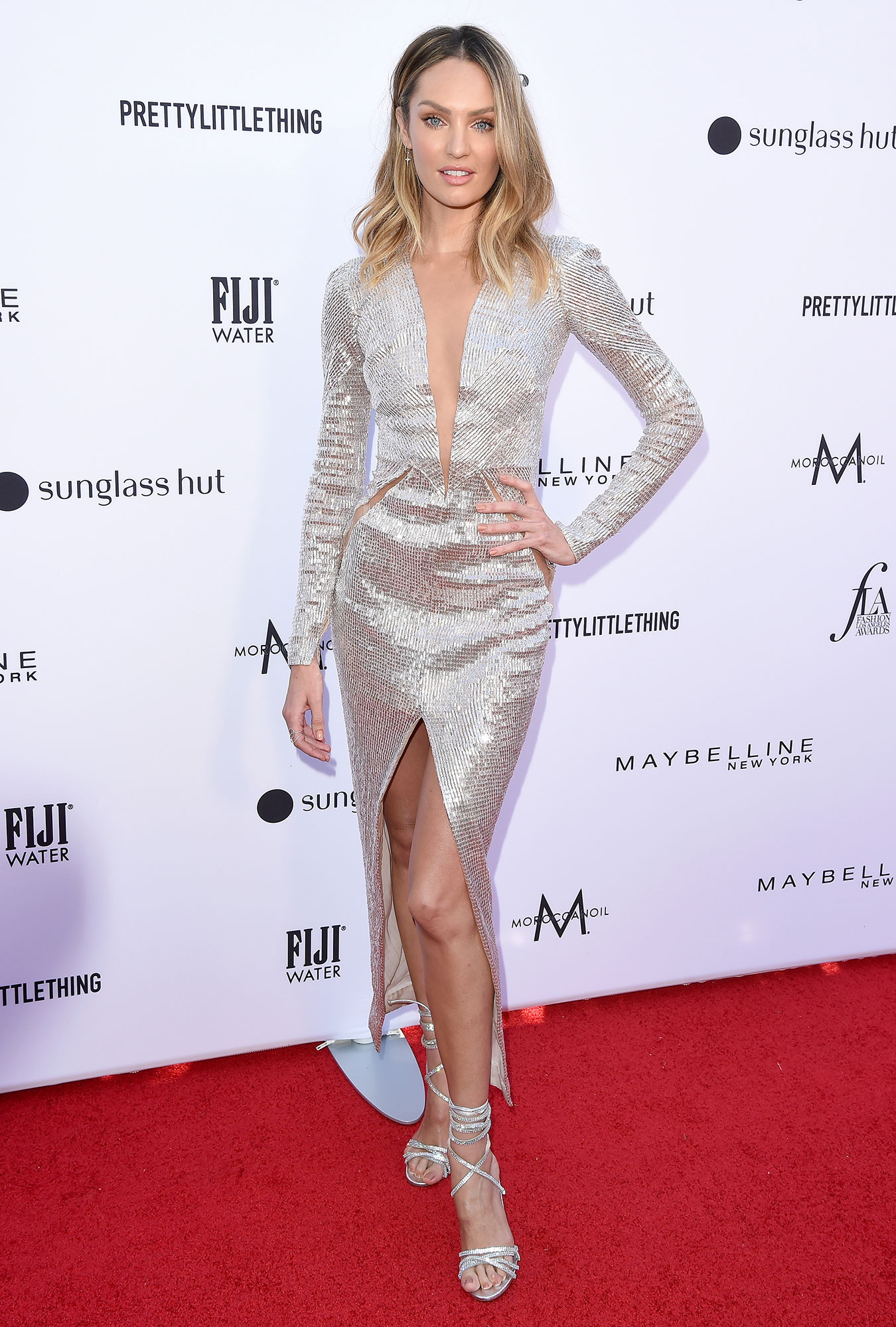 Stars Brought Their Style A-Game to the Daily Front Row Fashion Awards - The blonde beauty looked absolutely gorgeous in a shimmery silver dress with a slit up the middle and matching strappy heels.