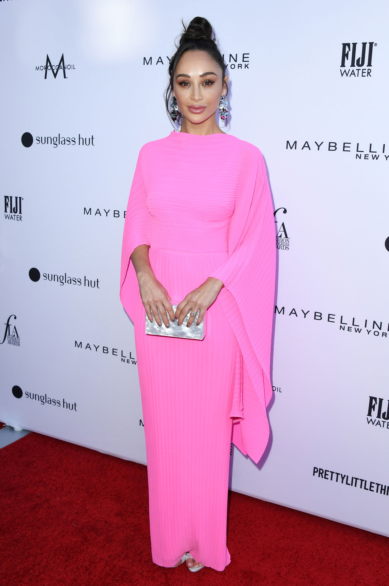 Stars Brought Their Style A-Game to the Daily Front Row Fashion Awards - The actress stunned in a bubble gum pink dress with draped sleeves and a messy topknot.