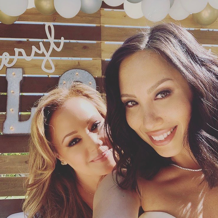 Cheryl Burke Celebrates Bridal Shower at 'Matron of Honor' Leah Remini's House Ahead of Wedding to Fiance Matthew Lawrence - Burke and Remini were all smiles as they posed together with the sunlight shining on their faces.
