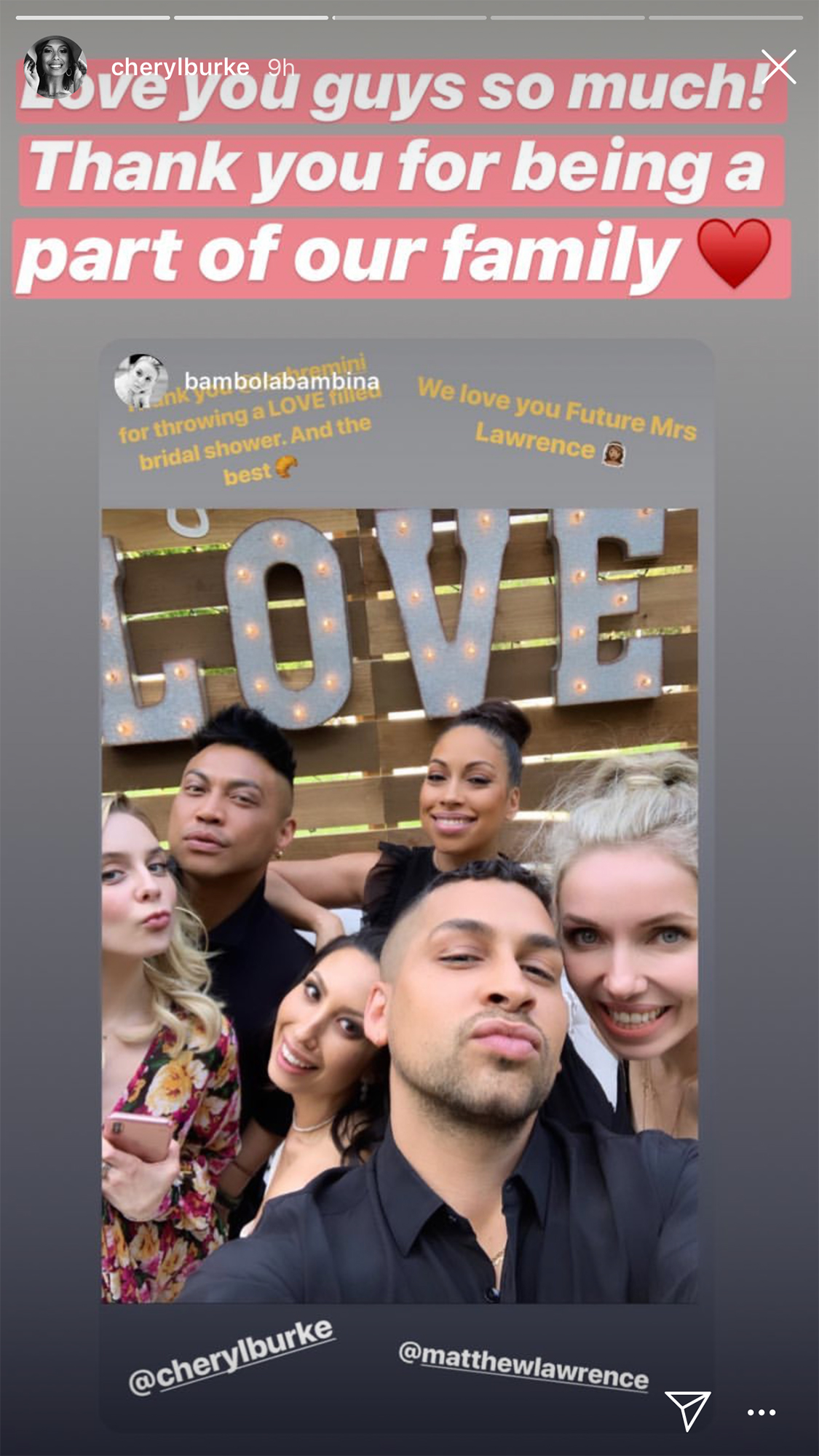 Cheryl Burke Celebrates Bridal Shower at 'Matron of Honor' Leah Remini's House Ahead of Wedding to Fiance Matthew Lawrence - Burke was surrounded by the love of friends and family.