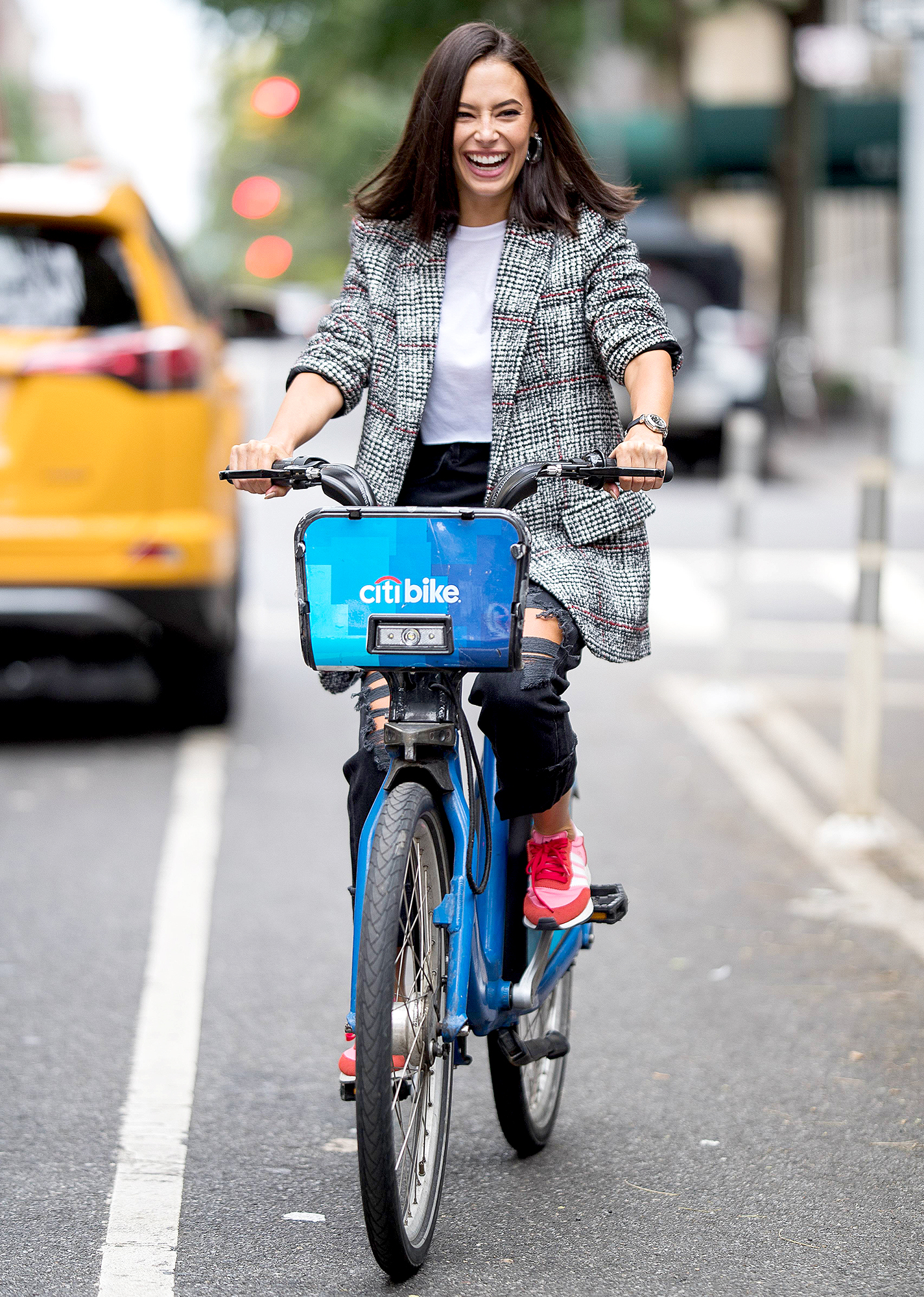 Chloe-Bridges--biking - The Insatiable actress looked sleek on her Citi Bike in NYC on September 10, 2018.
