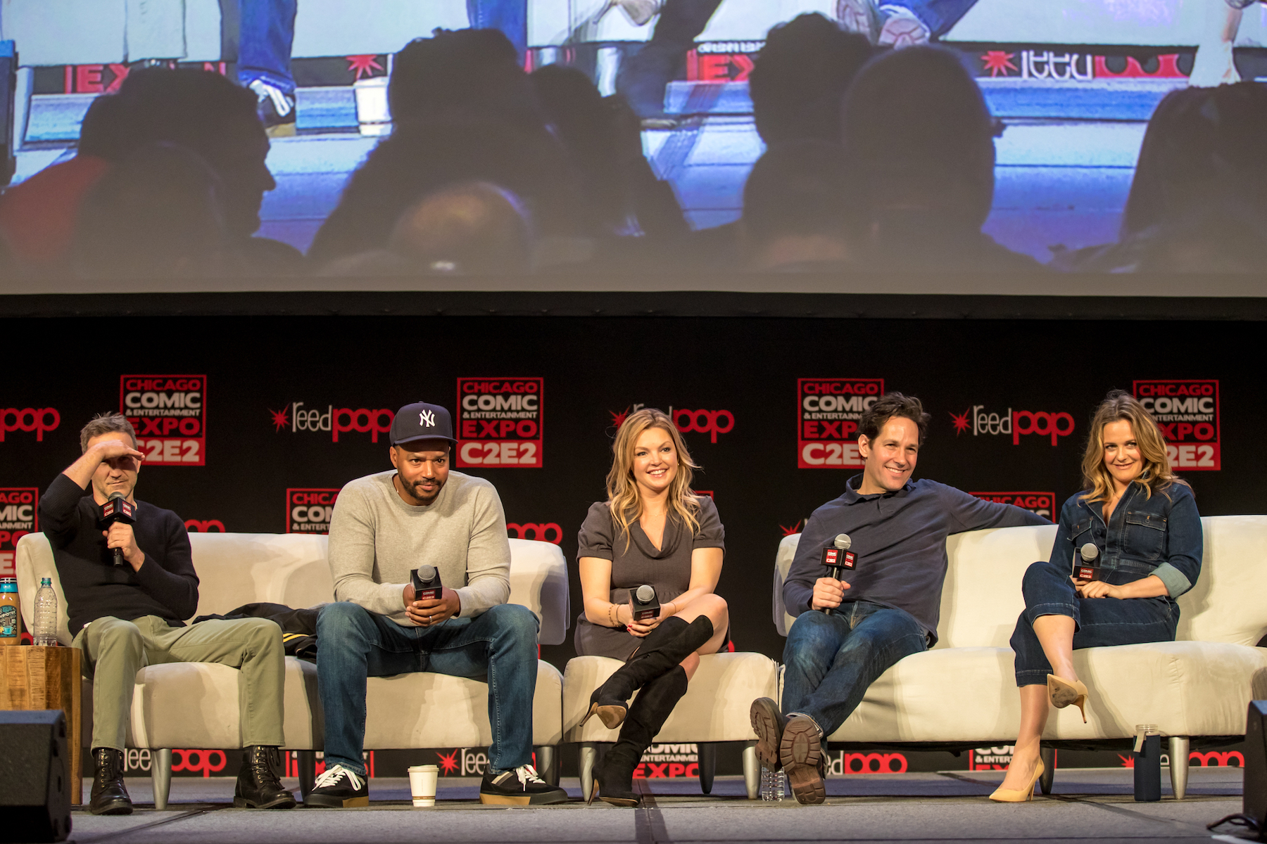 'Clueless' Cast Remembers Brittany Murphy 10 Years After Death - 'Clueless' Cast, Breckin Meyer, Donald Faison, Paul Rudd, Alicia Silverstone at Chicago Comic & Entertainment Expo 2019.