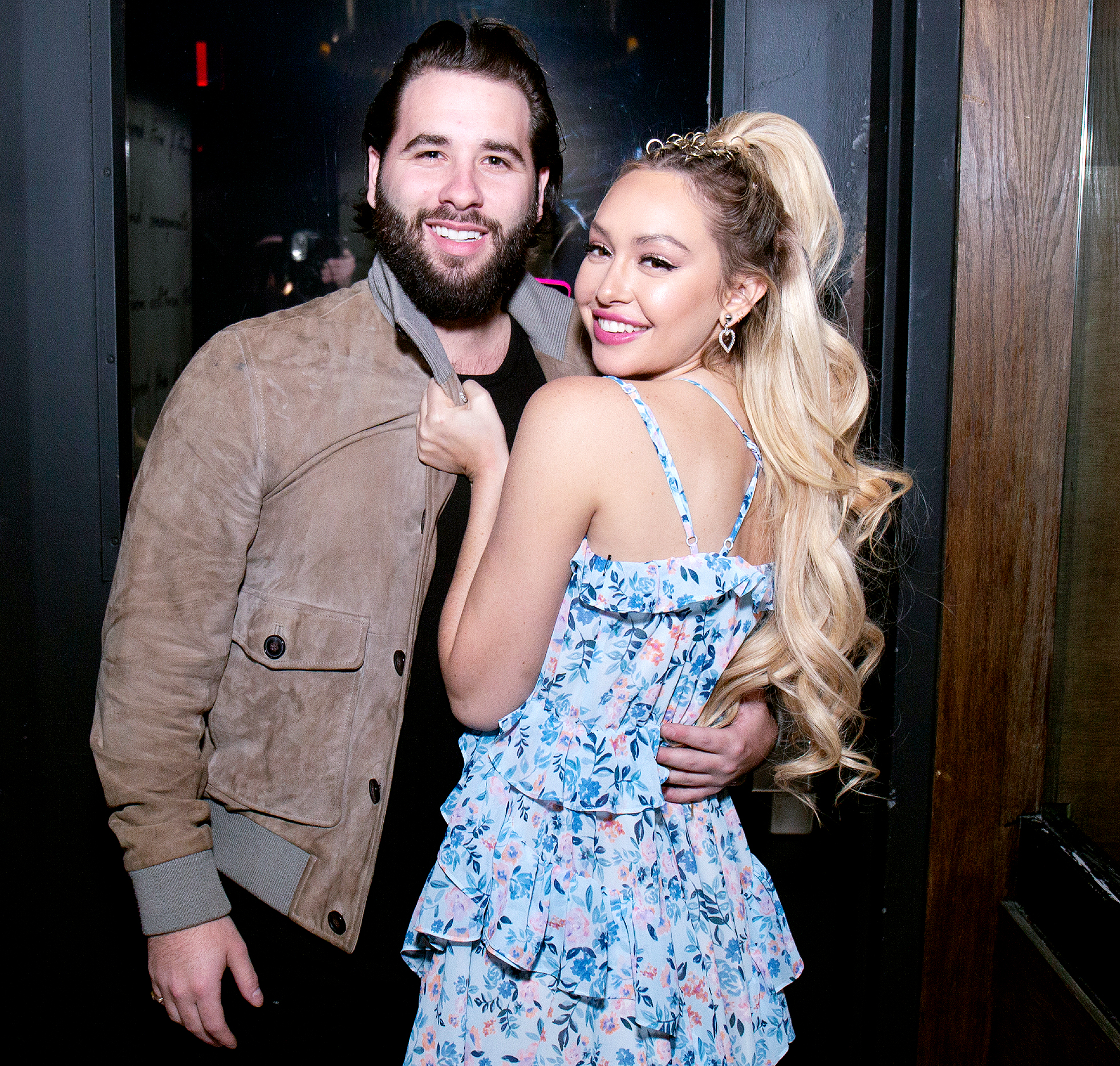 Corinne-Olympios-Gonna-Get-Engaged-Jon-Yunger - NEW YORK, NY – NOVEMBER 10: Jon Yunger and Corinne Olympios at 1OAK for her birthday celebration on November 10, 2018 in New York City. (Photo by Santiago Felipe/Getty Images)