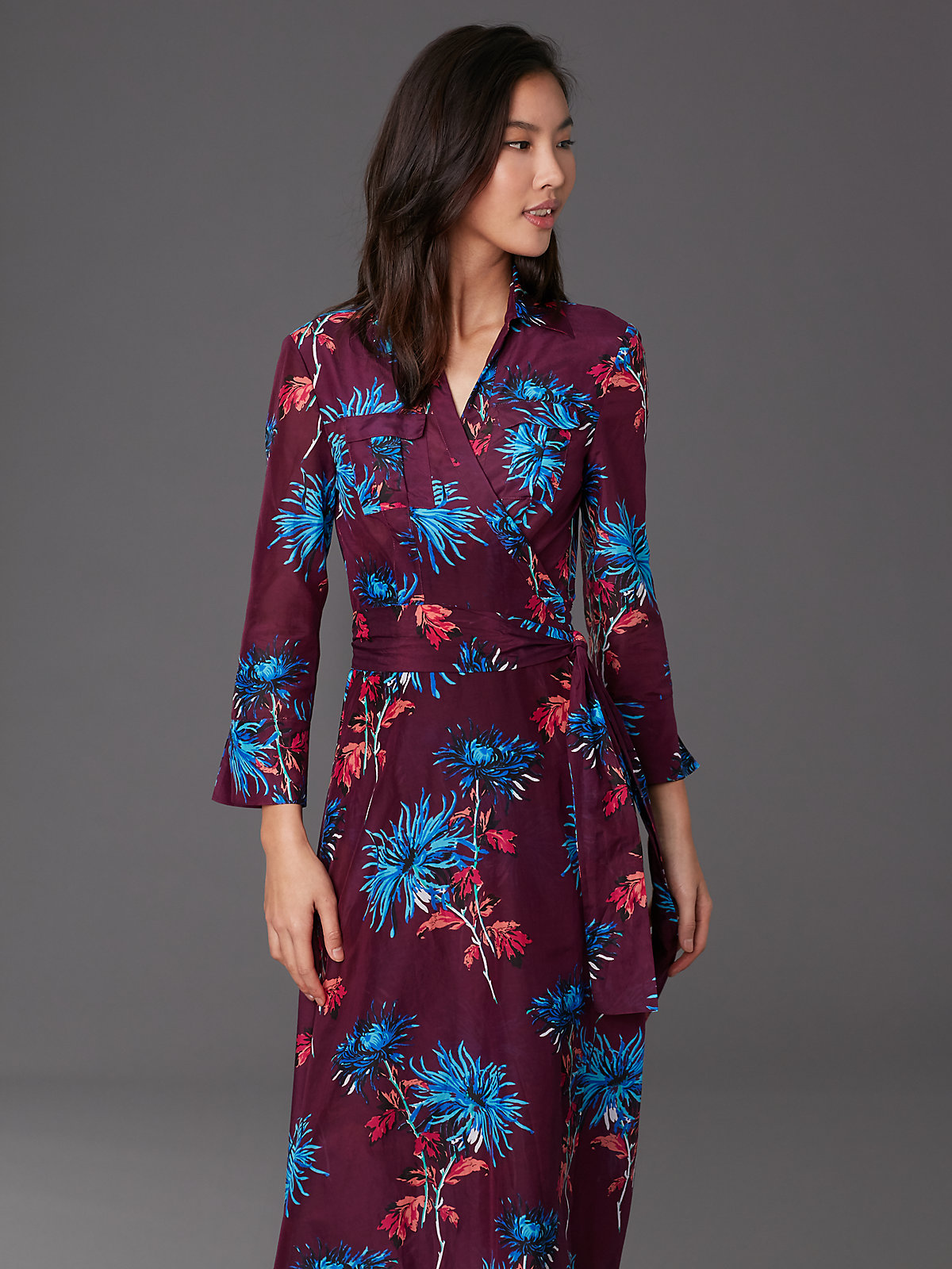 DVF Dress Currant 2