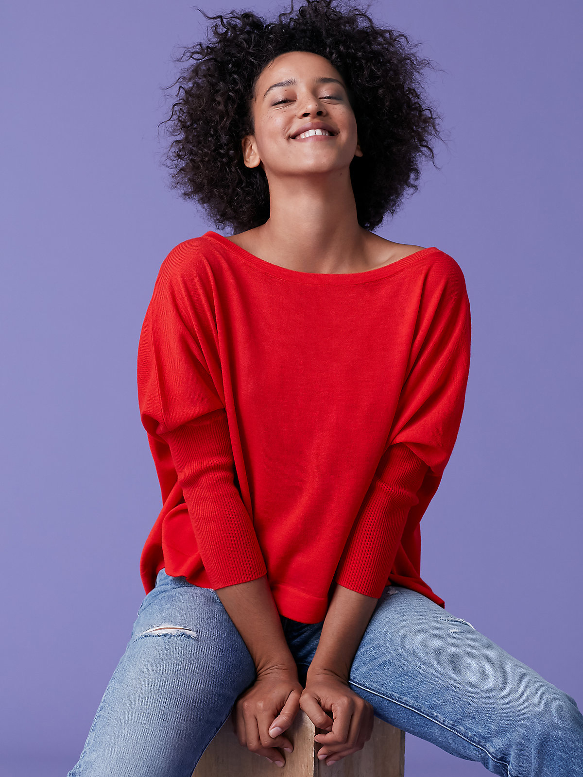 DVF red sweater