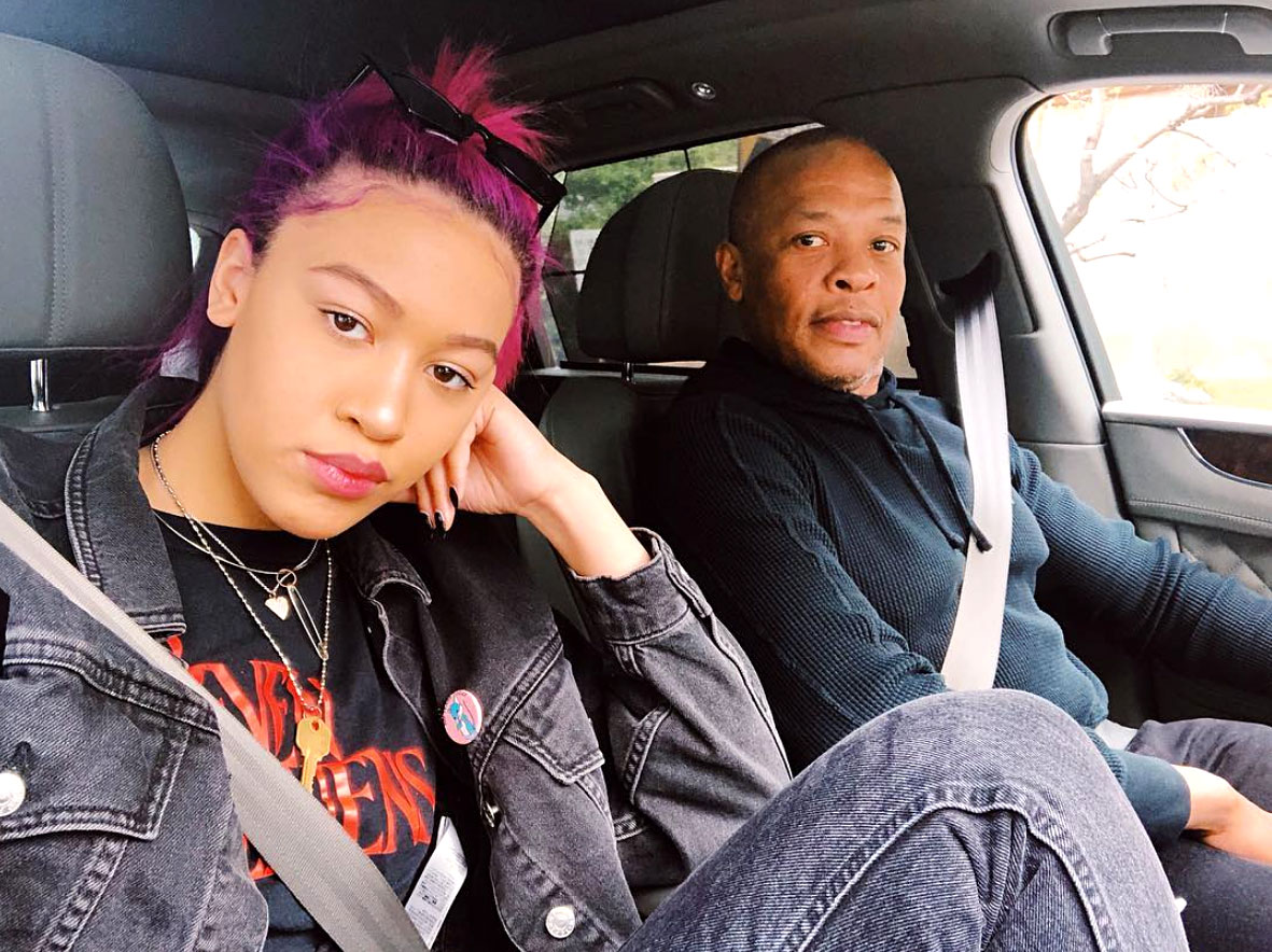 Dr. Dre's Daughter Once Said He Was 'Pushing' Her to Go to USC - Truly Young and her father Dr. Dre.