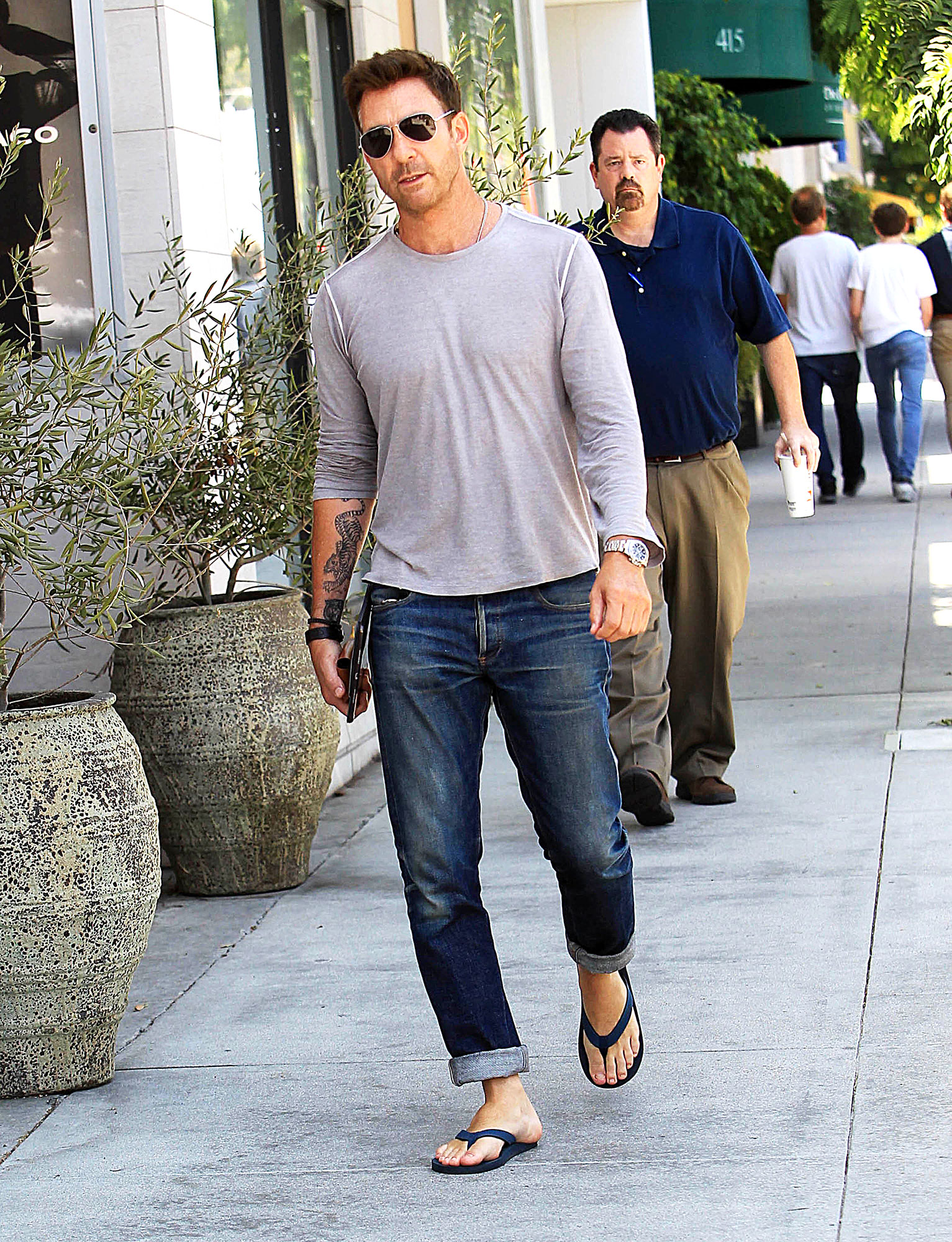 Dylan McDermott's New Huge Tattoo Leads Our List of Crazy Celeb Ink - Dylan McDermott is seen on August 3, 2018 in Los Angeles, CA.