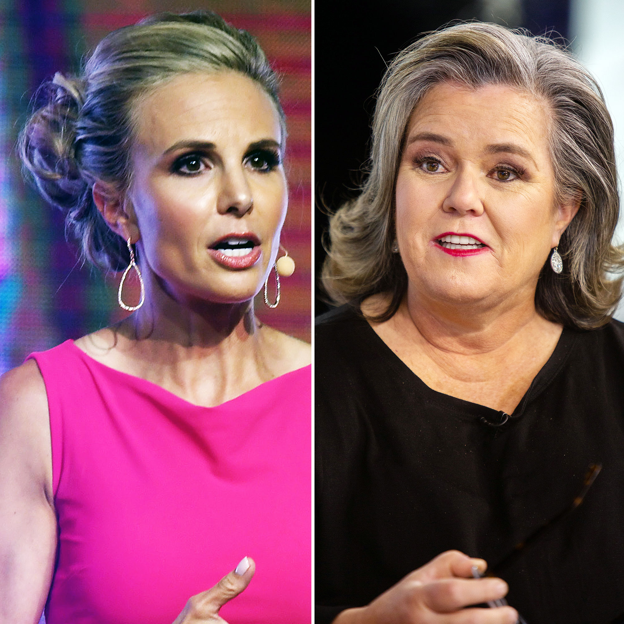 "Elisabeth Hasselbeck Rosie O'Donnell Tumultuous Past - On Fox & Friends , Hasselbeck said O'Donnell's comments in the book excerpt were ""disturbing"" and ""offensive"" and claimed she ""immediately started praying"" when she read them. ""If you took her words and you replaced Rosie for Ronald, there would be an objectification of women in the workplace,"" she added."